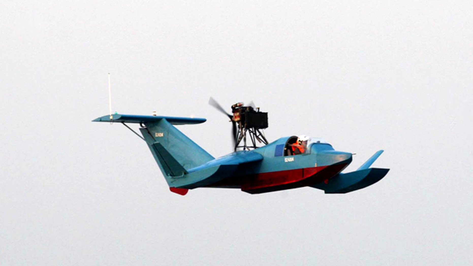 This photo released on Tuesday, Sept. 28, 2010, by the Iranian Defense Ministry, claims to show a Bavar-2, or Confidence-2, radar-evading flying boat. Iran's state TV says the country's powerful Revolutionary Guard has received its first three squadrons of radar-evading flying boats.