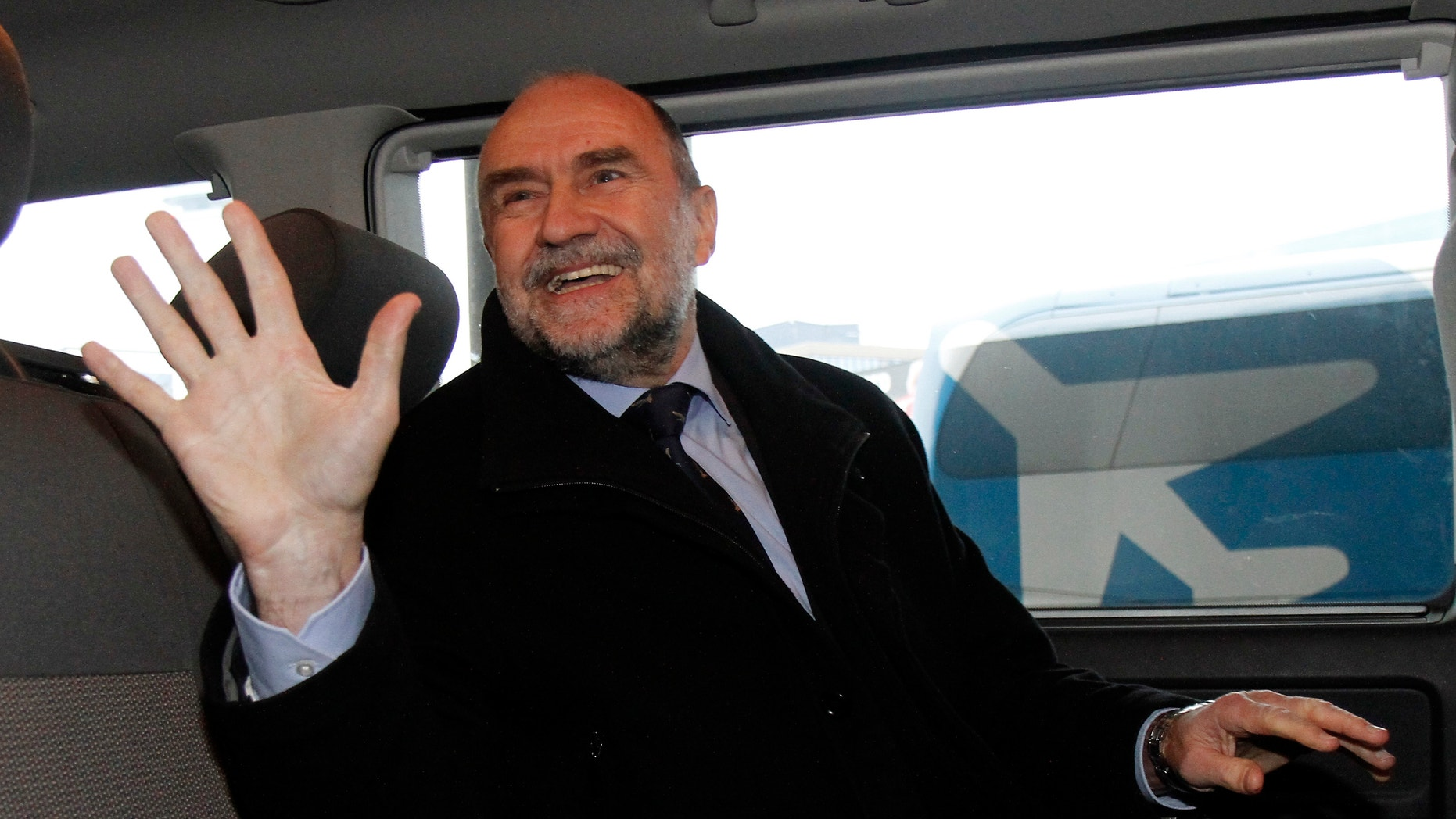 Dec. 14, 2012 - Herman Nackaerts, Deputy Director General and Head of the Department of Safeguards of the International Atomic Energy Agency arrives from Iran at Vienna's Schwechat airport, Austria.