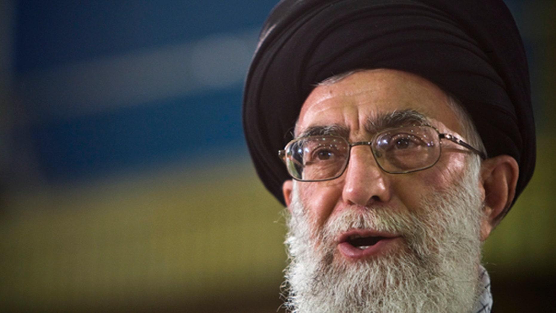 June 12, 2009: Supreme Leader Ayatollah Ali Khamenei speaks live on television in Iran.