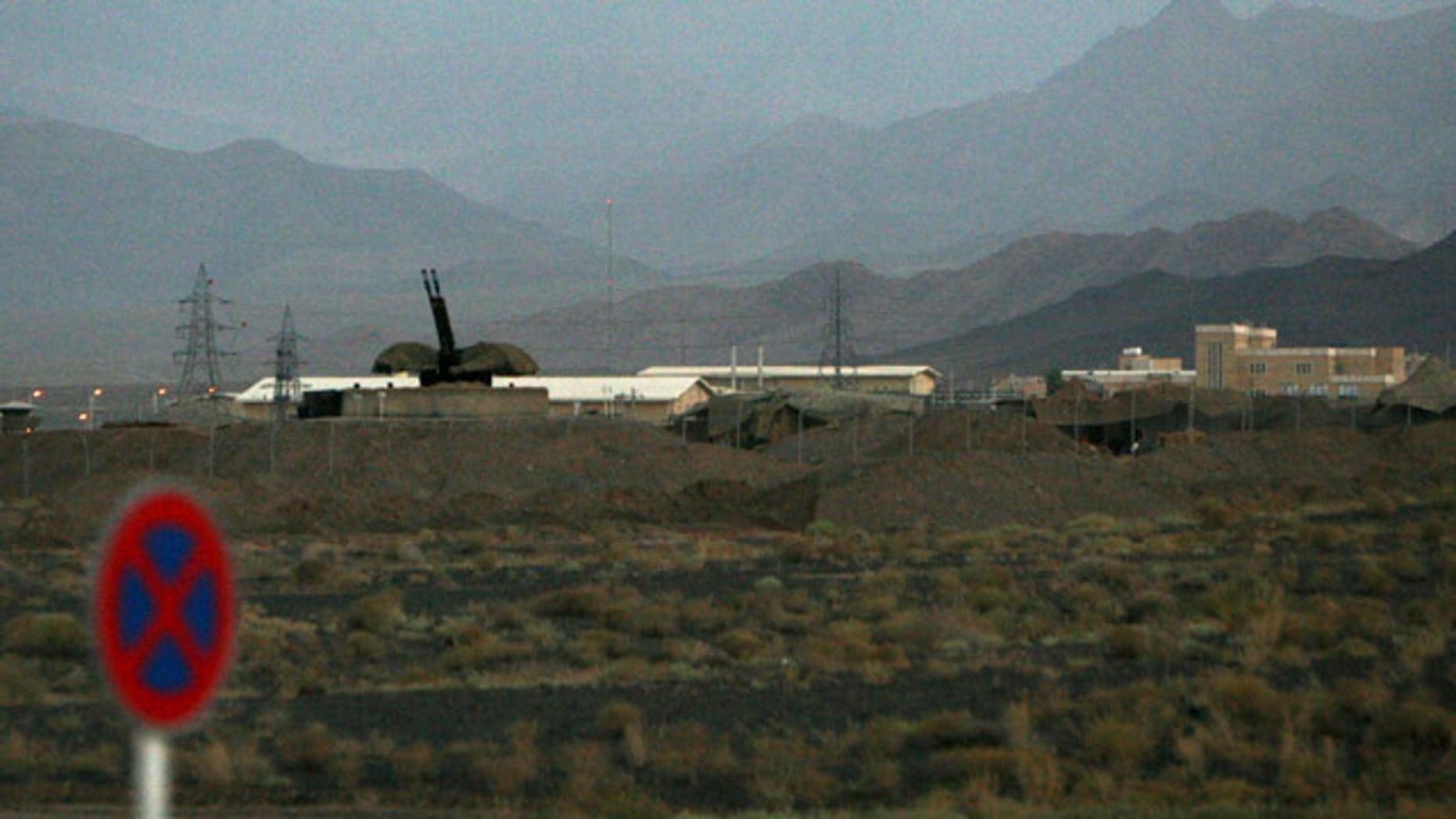 FILE 2007: An anti-aircraft gun position is seen at Iran's nuclear enrichment facility in Natanz, Iran.