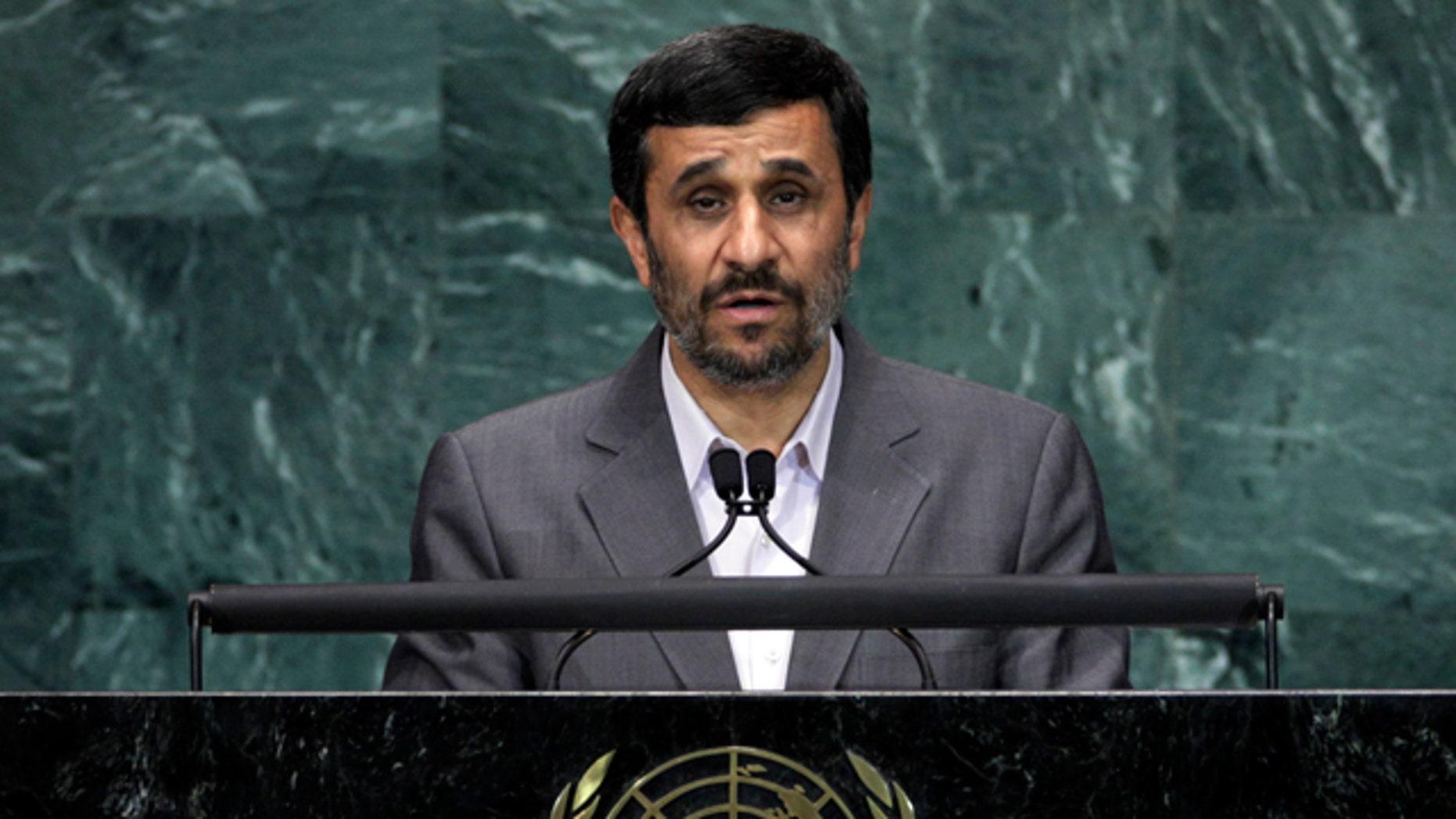 September 21: Mahmoud Ahmadinejad, President of Iran, addresses a summit on the Millennium Development Goals at United Nations headquarters. (AP)