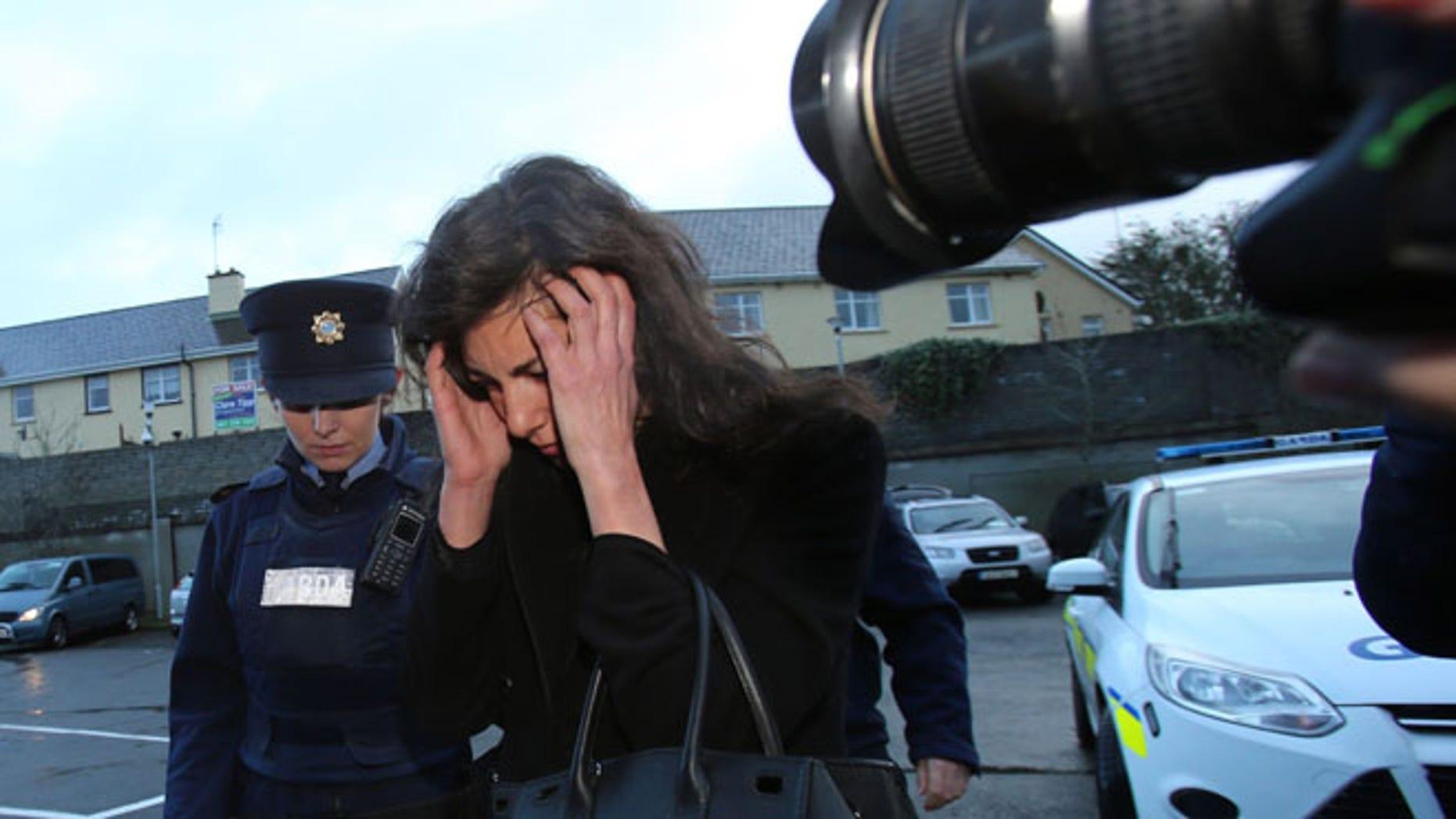 Jan. 7, 2014: Jenny Lauren, centre, Niece of fashion designer Ralph Lauren, arrives at  Killaloe District Court, in Killaloe, Ireland.