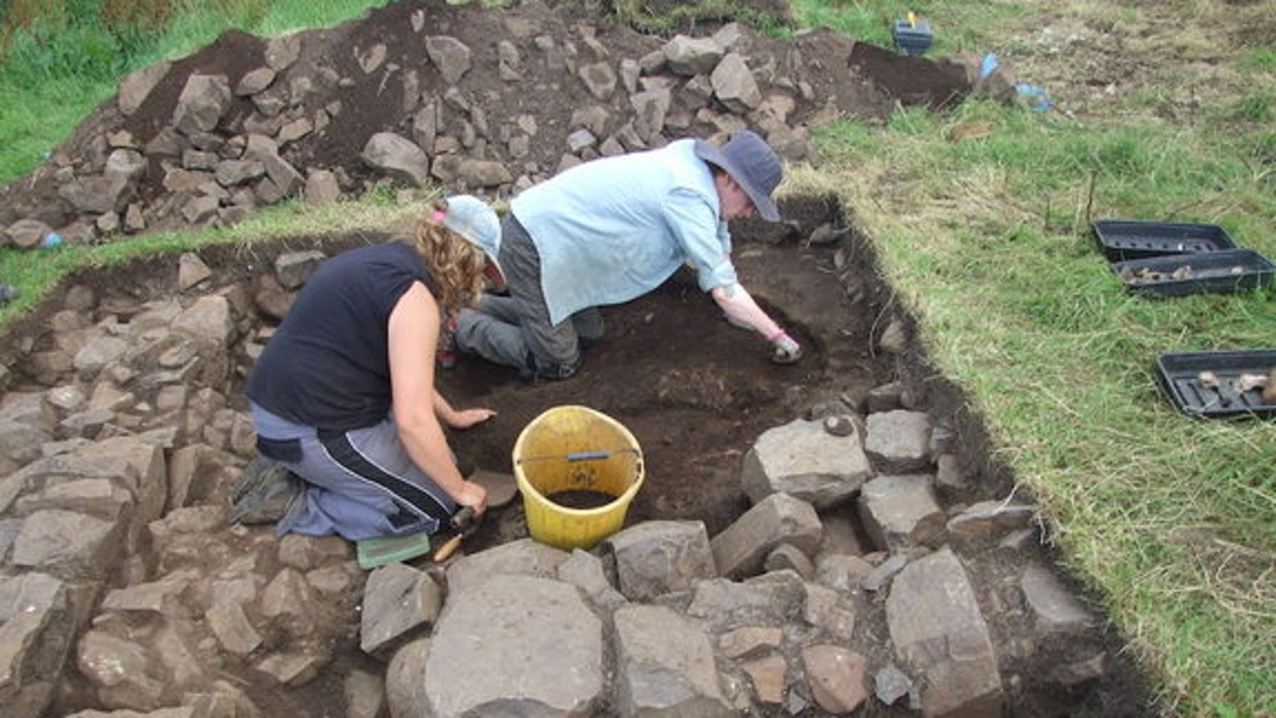 Archaeologists excavated a stone structure near Dunluce Castle along the coast of Northern Ireland. Experts already knew about a town that flourished in the 1600s, but they were unaware of the earlier settlement, which dates back to the late 14