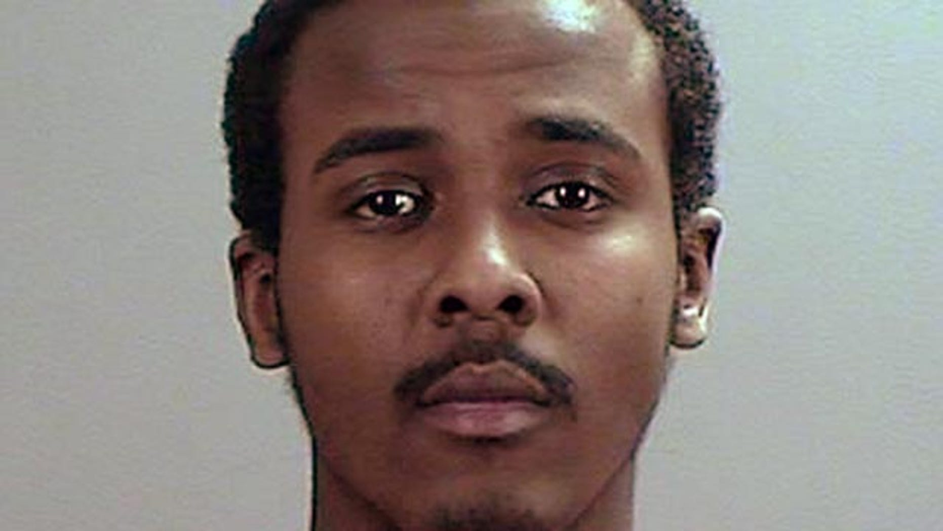 May 21, 2015: This undated photo provided the Sherburne County, Minn., Sheriffs Office shows Abdirahman Yasin Daud, one of several Minnesota men accused of conspiring to travel to Syria to join the Islamic State group. (Sherburne County Sheriffs Office via AP)