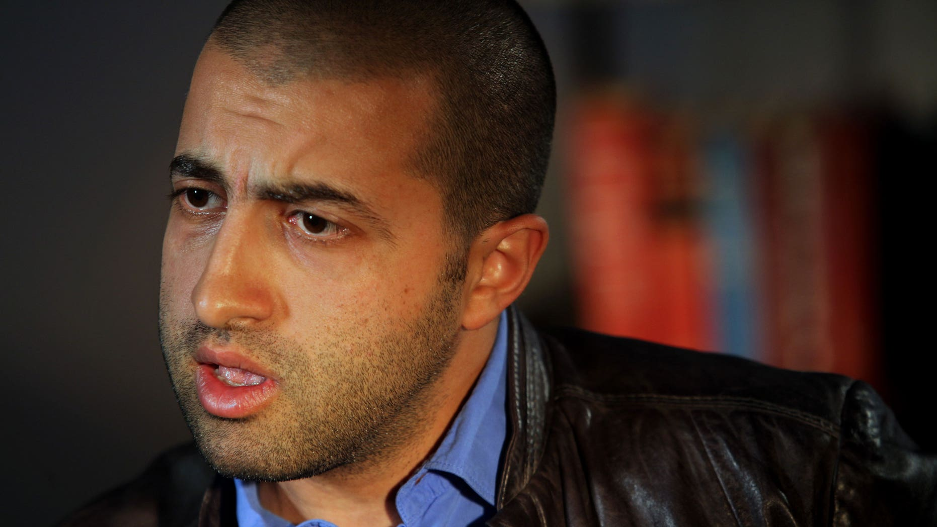 March 3: Mosab Hassan Yousef speaks during an interview in New York. Yousef says he will be killed if he is deported from the United States to the West Bank. The oldest son of one of Hamas' founders, he was an Israeli spy for a decade, and he abandoned Islam for Christianity, further marking him a traitor. (AP)