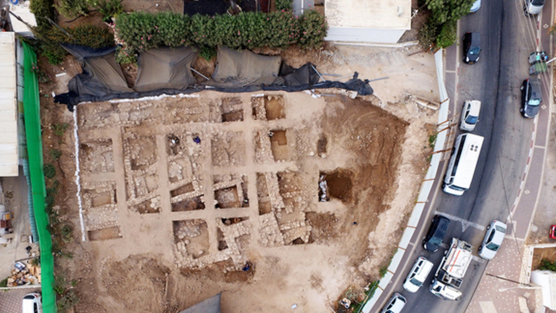 A photo from above the citadel, taken during the excavation.