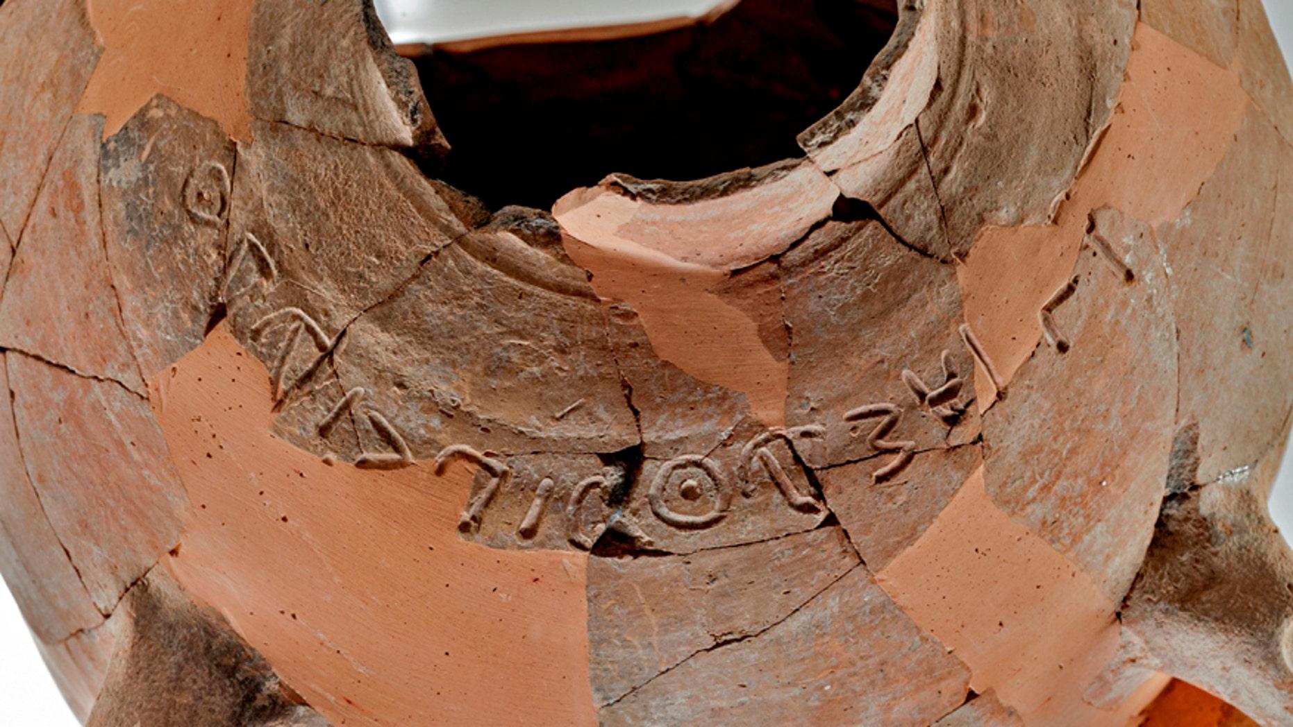 The inscription.