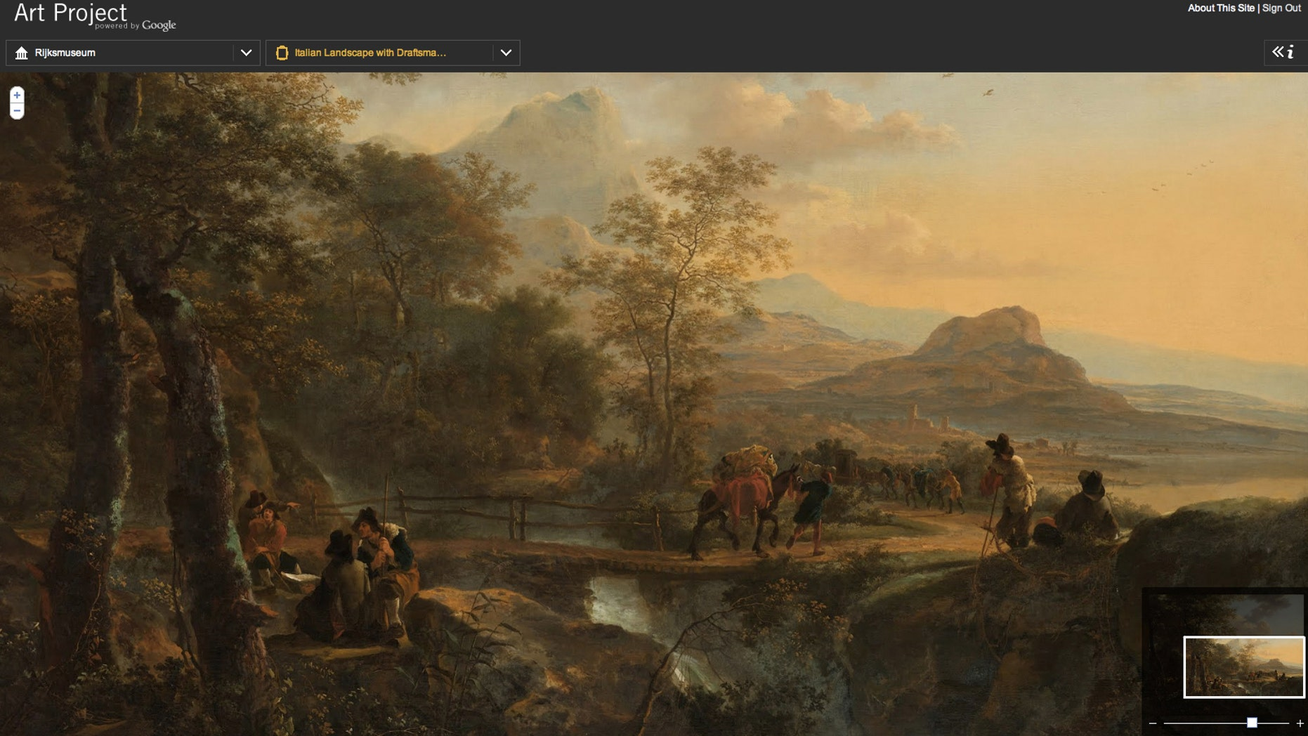 A Rembrandt painting, one of many made available by Amsterdam's Rijksmuseum, thanks to a new Google project.