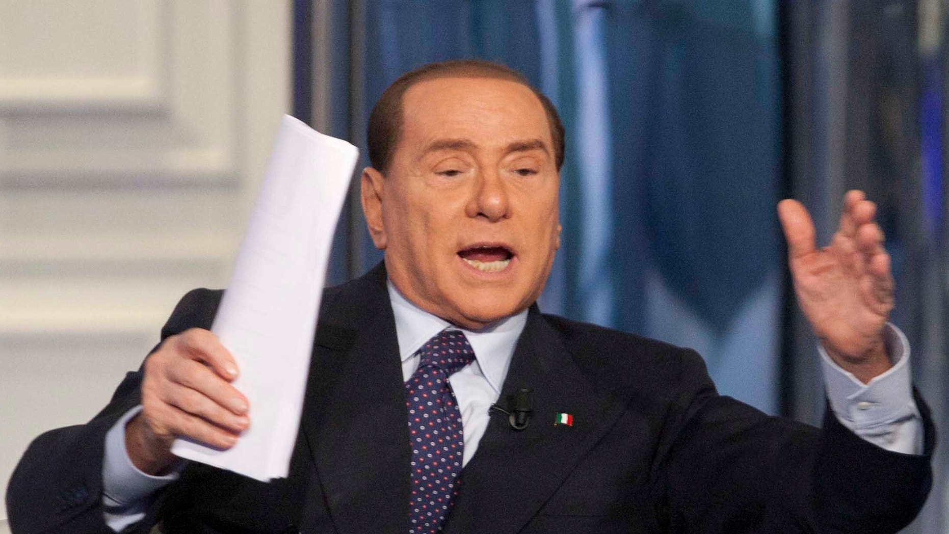 Jan. 9, 2013 - FILE photo of Former Premier Silvio Berlusconi  interviewed during a television show in Rome, Italy.