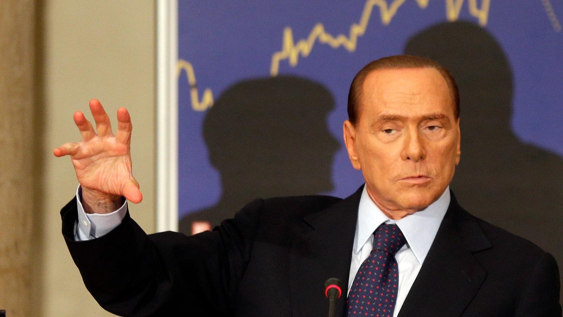 Sept. 27, 2012 - FILE photo of Former Italian premier Silvio Berlusconi.