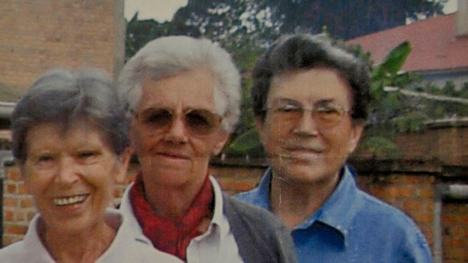 Sept 8, 2014: This undated photo released by Saverian missionaries shows the three Italian missionary nuns, from left, Bernardetta Boggian, Olga Raschietti and Lucia Pulici, found slain in their convent in Burundi.