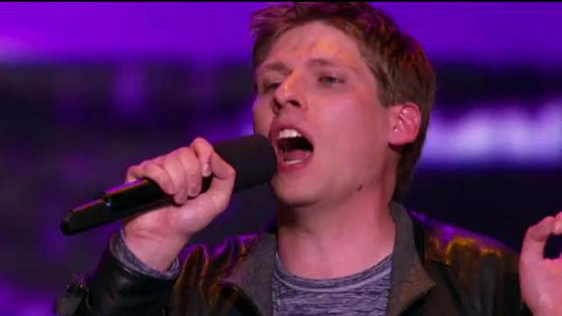 Sept. 28, 2011: J. Mark Inman sings on The X Factor's Chicago auditions.