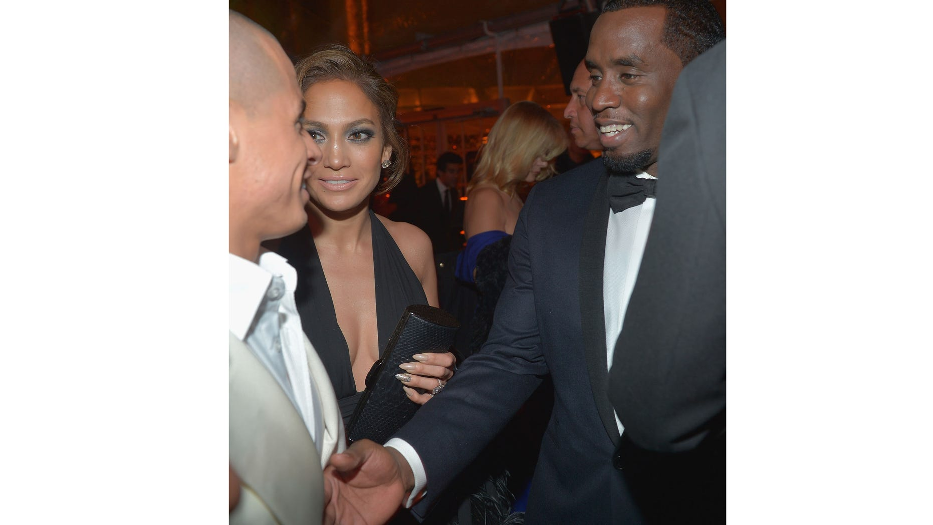 Jan. 13, 2013:  (L-R) Casper Smart, Jennifer Lopez and Sean Combs attend The Weinstein Company's 2013 Golden Globe Awards After Party at The Beverly Hilton Hotel on Subday in Beverly Hills, Calif.