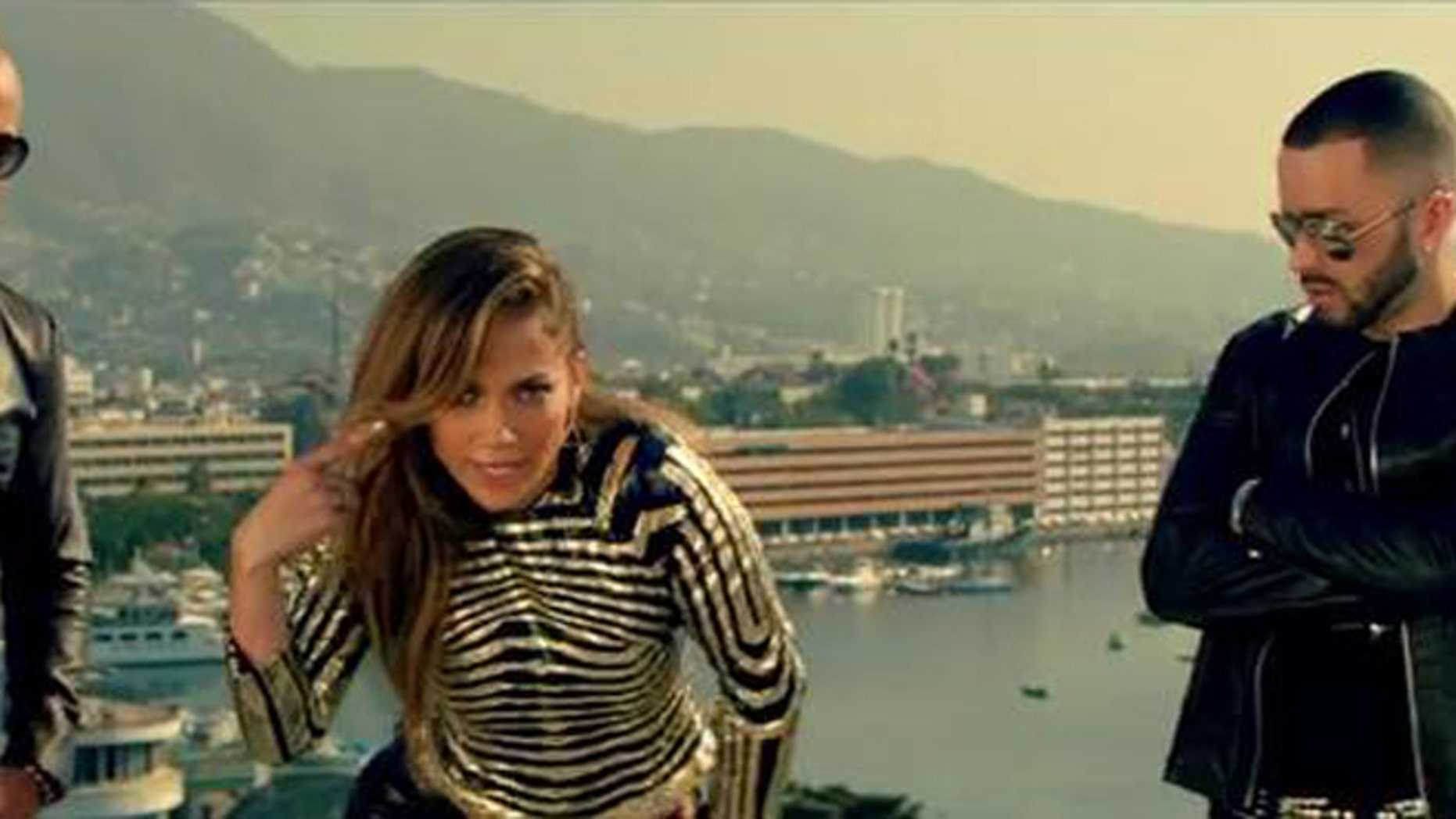 """May 4, 2012: Puerto Rican singers Jennifer Lopez and Wisin y Yandel debuted their new music video for their latest single """"Follow the Leader,"""" Friday on Twitter."""