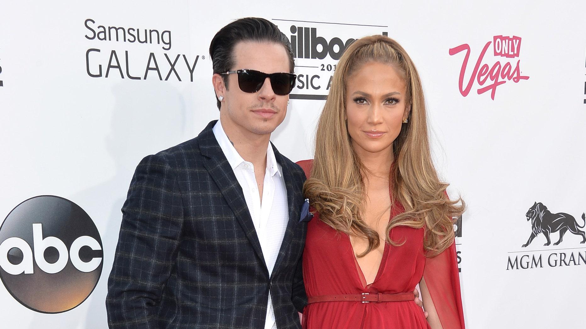 Casper Smart and Jennifer Lopez attend the Billboard Music Awards on May 18, 2014 in Las Vegas, Nevada.