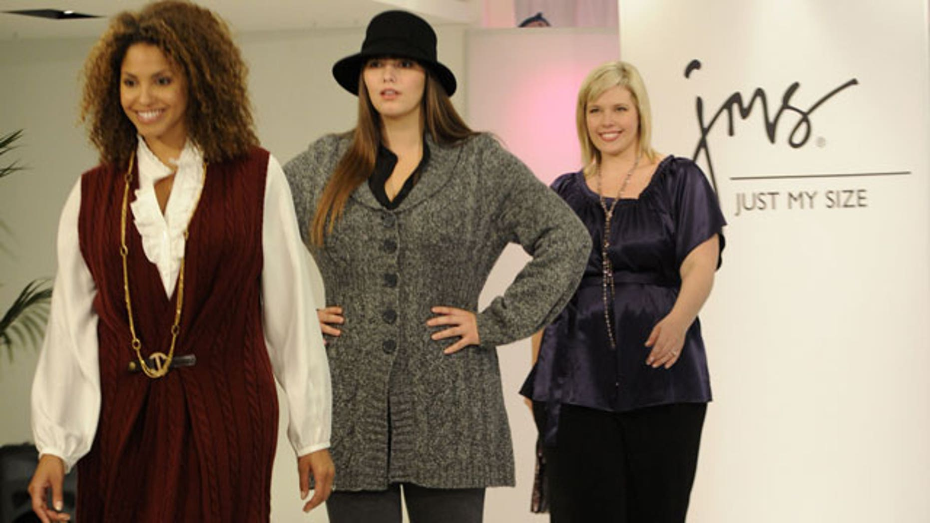 2296e5a4008f5 JMS Just My Size recently launched a new plus size clothing line for retail  giant Walmart at a fashion show in New York today.