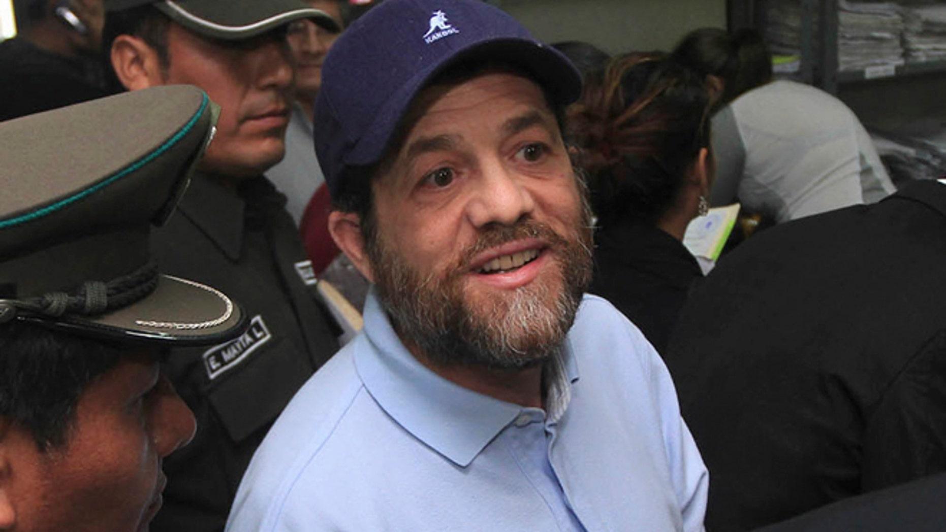 June 11, 2012: American Jacob Ostreicher is seen in a courtroom at Santa Cruz, Bolivia.