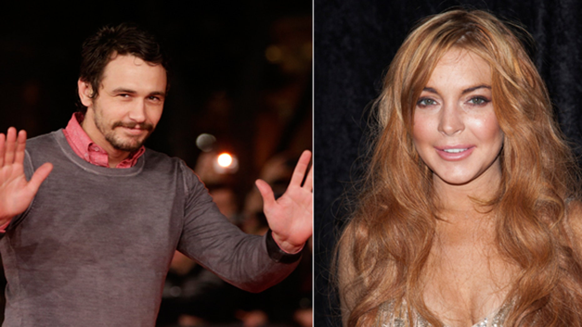 James Franco, left, said he rejected advances from starlet Lindsay Lohan.
