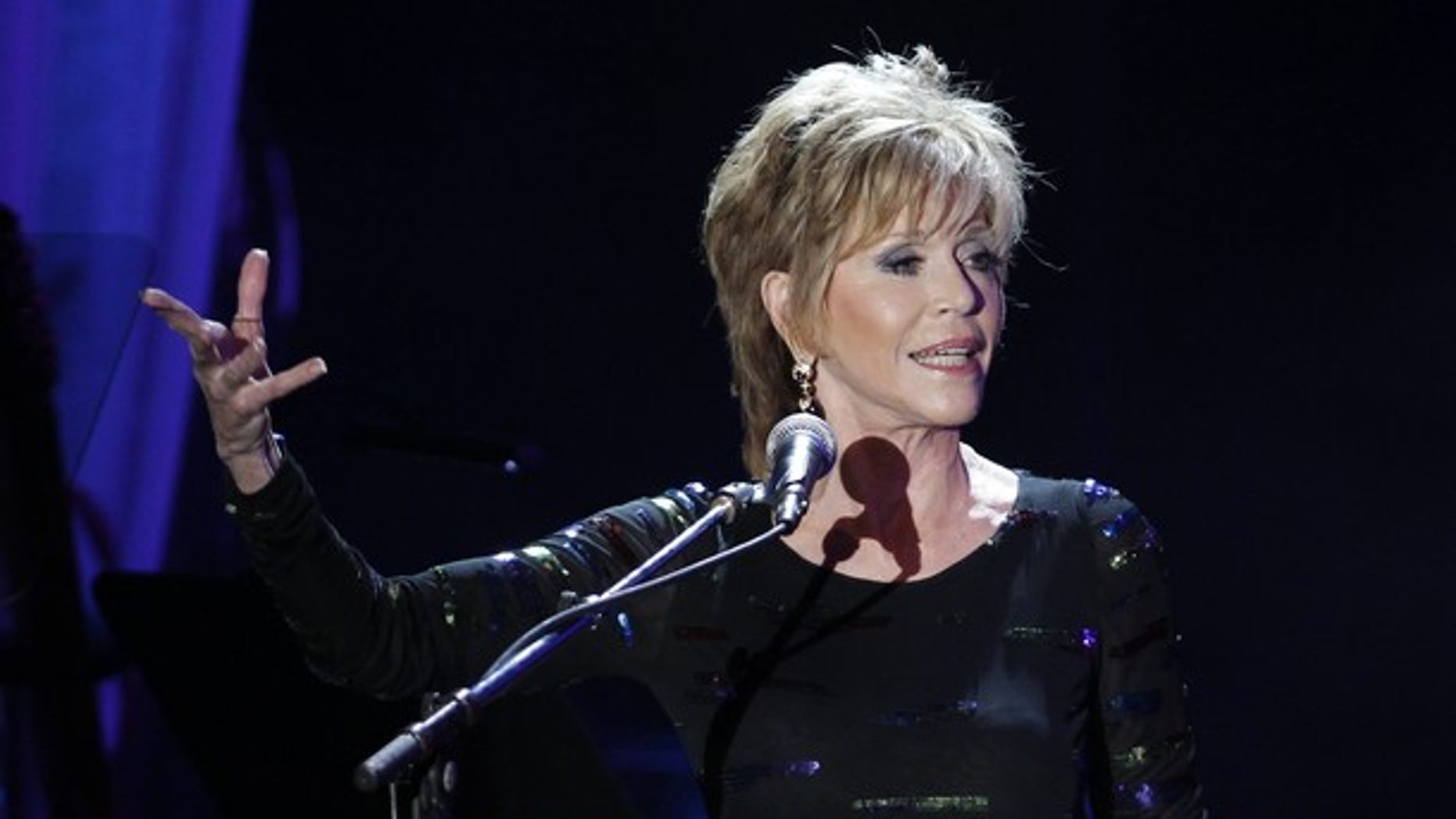 Feb. 11: Jane Fonda presents an honorary award to Richard Branson during the 2012 Pre-Grammy Gala & Salute to Industry Icons at the Beverly Hilton Hotel in Beverly Hills