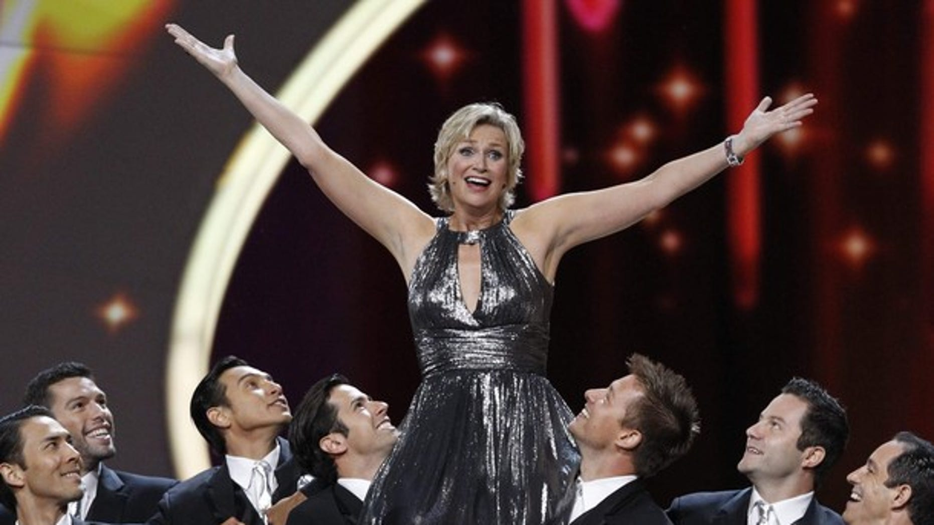 Jane Lynch performs at the Emmys (Reuters)