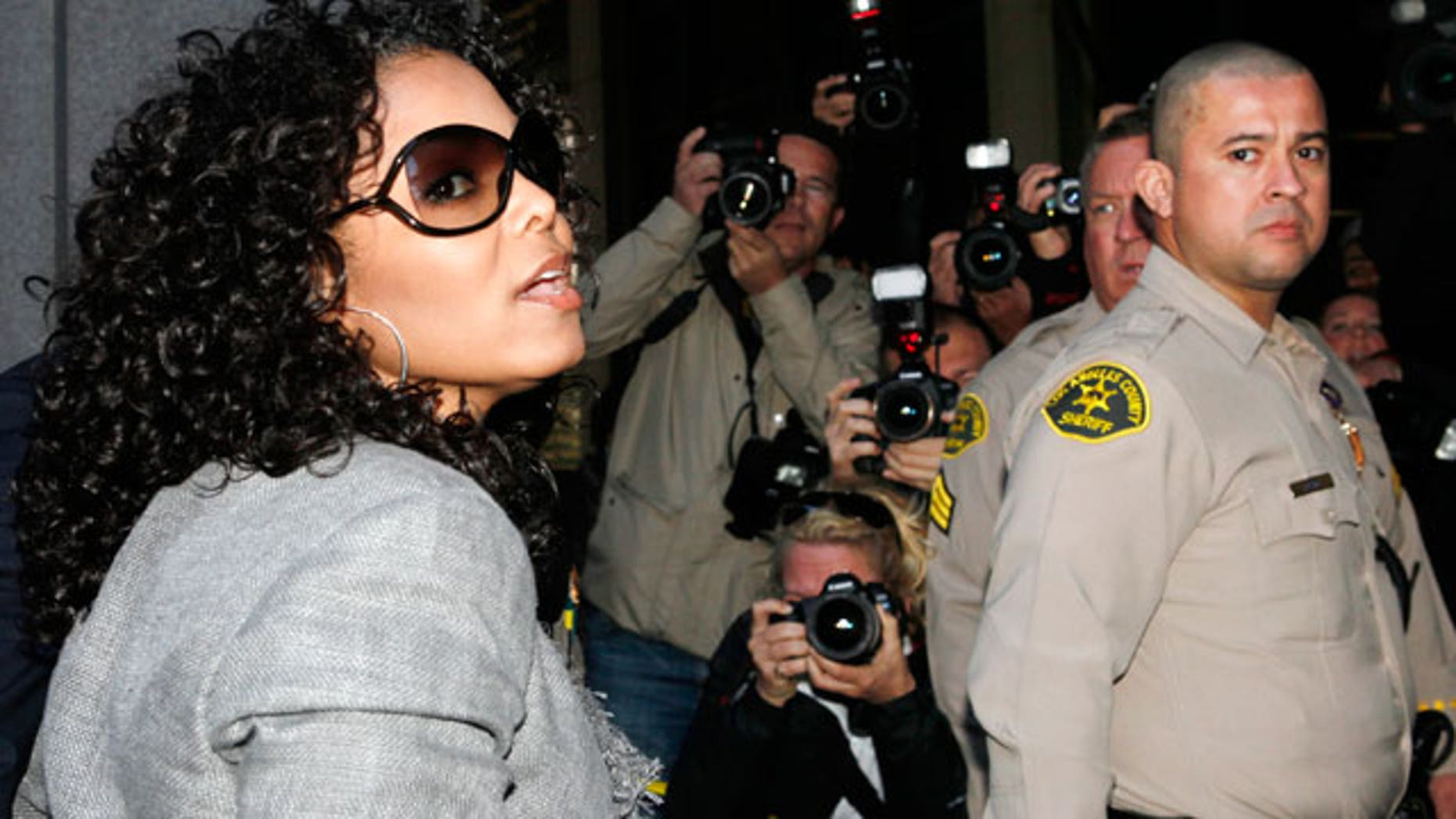 April 5: Janet Jackson arrives at court for a hearing in the death of her brother Michael Jackson.