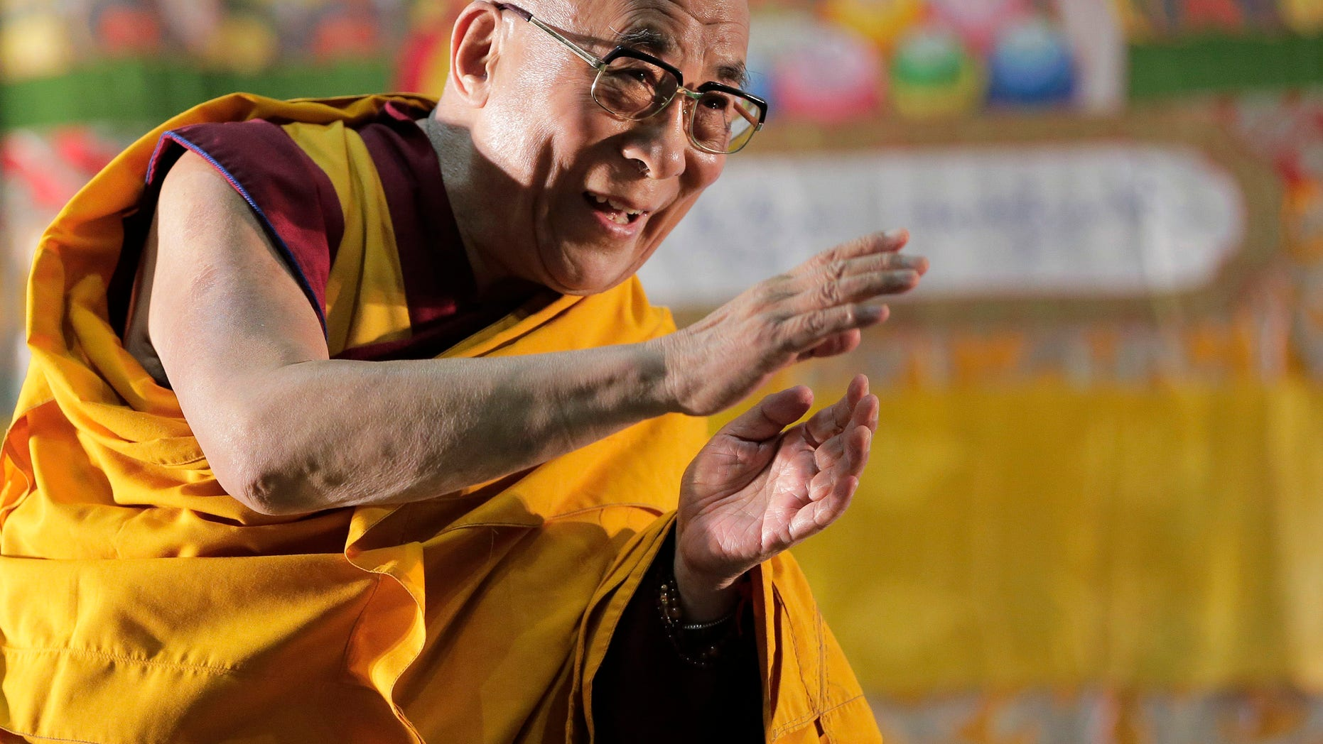 Nov. 4, 2012 - FILE of the Dalai Lama at a religious lecture in Yokohama, near Tokyo, on a 12-day visit to deliver speeches and take part in a symposium.