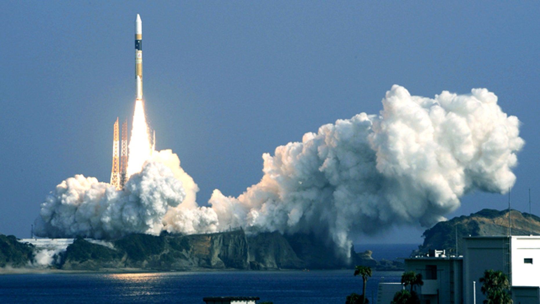 Dec. 12, 2011: An H-2A rocket carrying a radar satellite lifts off from the Tanegashima Space Center in Tanegashima, Kagoshima Prefecture, southwestern Japan. Japan has successfully launched the intelligence-gathering satellite, its second this year.