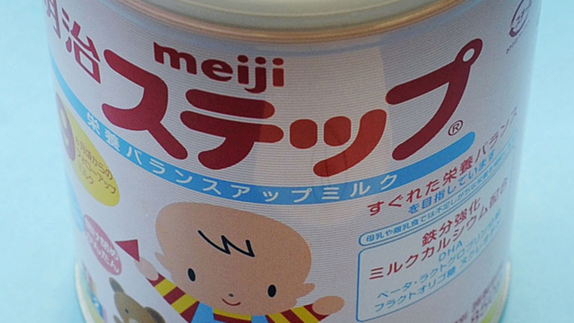 A canned powdered milk for infants Meiji Step, manufactured and sold by Japan's major food and candy maker Meiji Co.