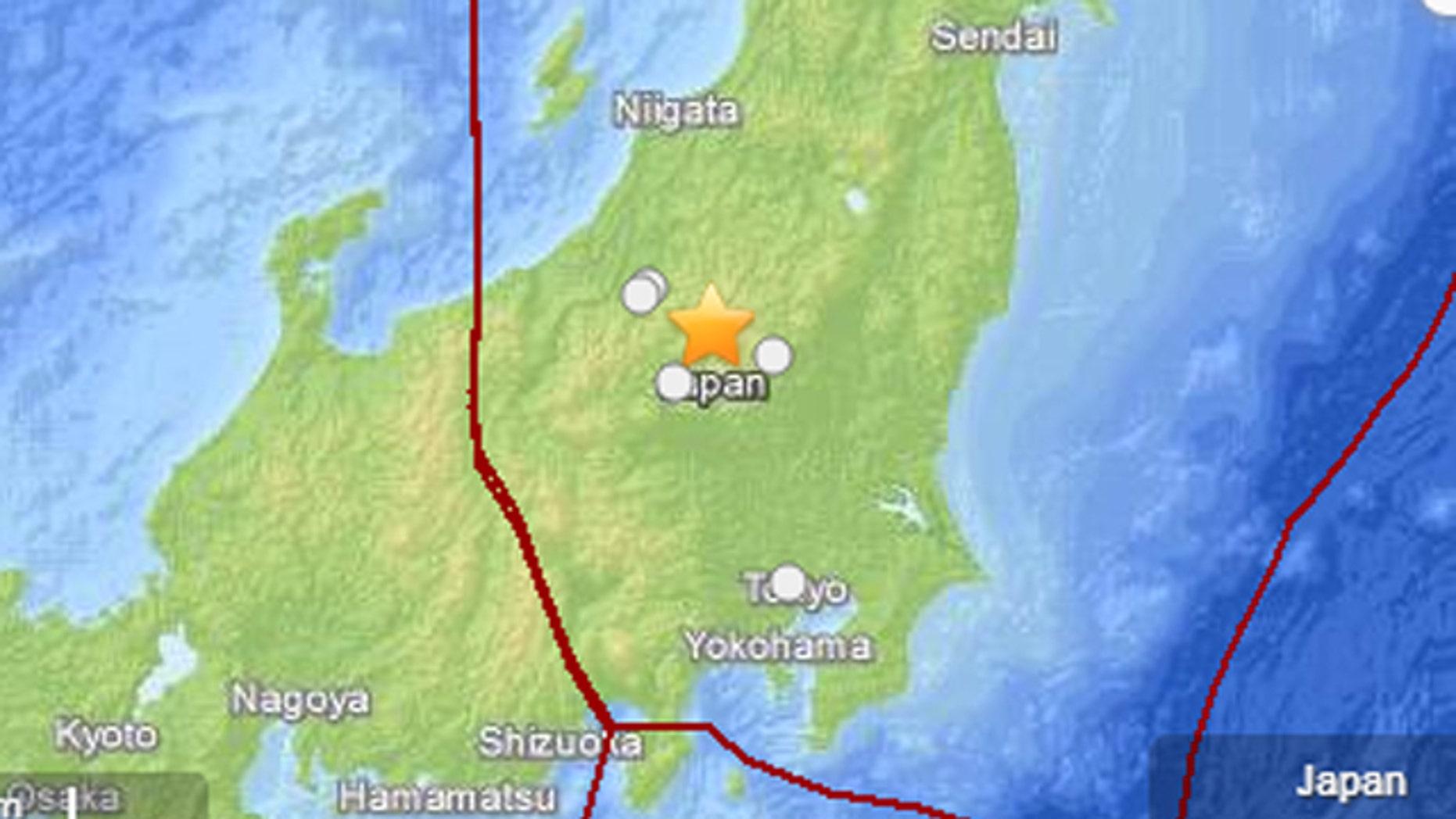 Feb. 25, 2013: An earthquake struck near Tokyo Monday afternoon.