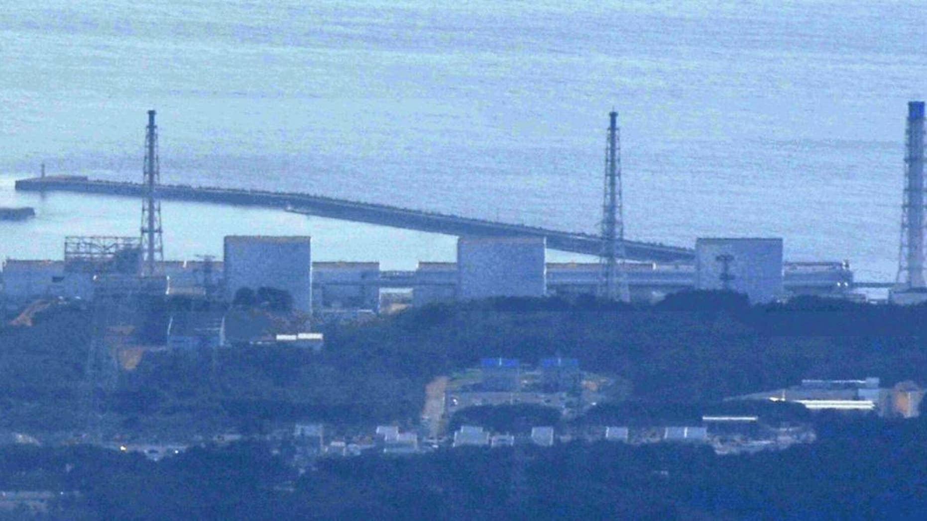 The damaged Fukushima Daiichi Nuclear Power Plant  (AP Photo/Kyodo News)