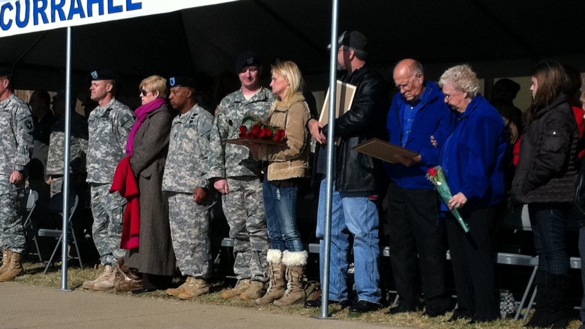 Nov. 10, 2011: Family of Sergeant First Class Barry Jarvis, killed in combat, recieves Silver Star at Fort Campbell, Ky.