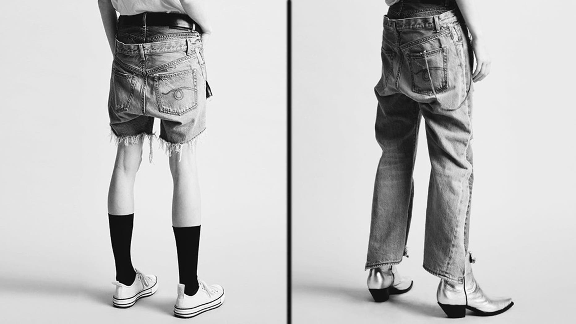 """The """"Double Back"""" shorts and jeans by R13 may be the craziest denim items to hit the market yet."""