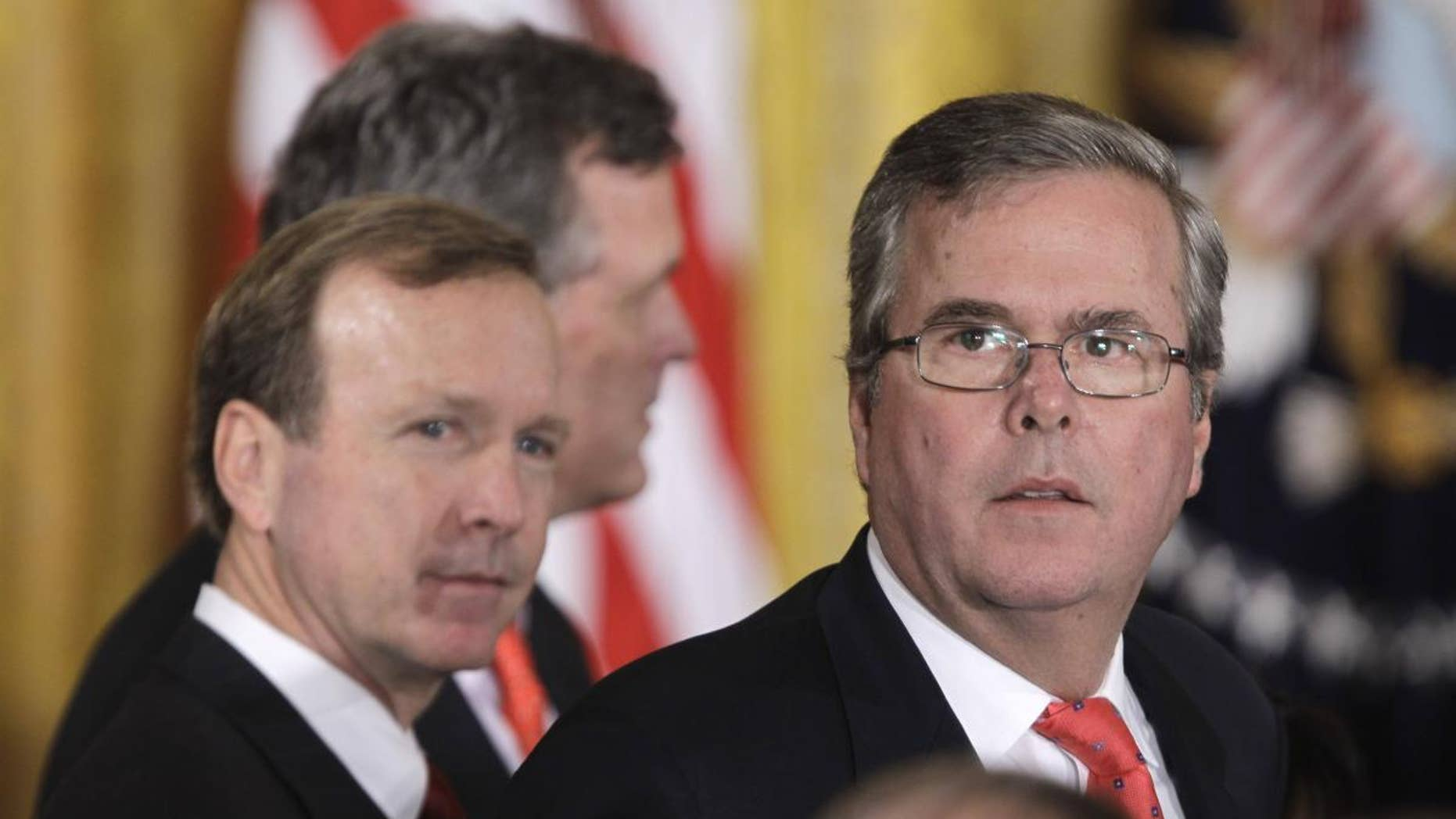 Former Florida Governor Jeb Bush.  (AP File Photo/Charles Dharapak)