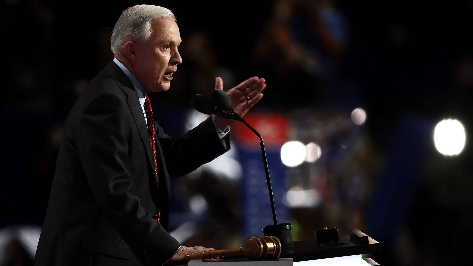 Sen. Jeff Sessions during the Republican National Convention on July 19, 2016.