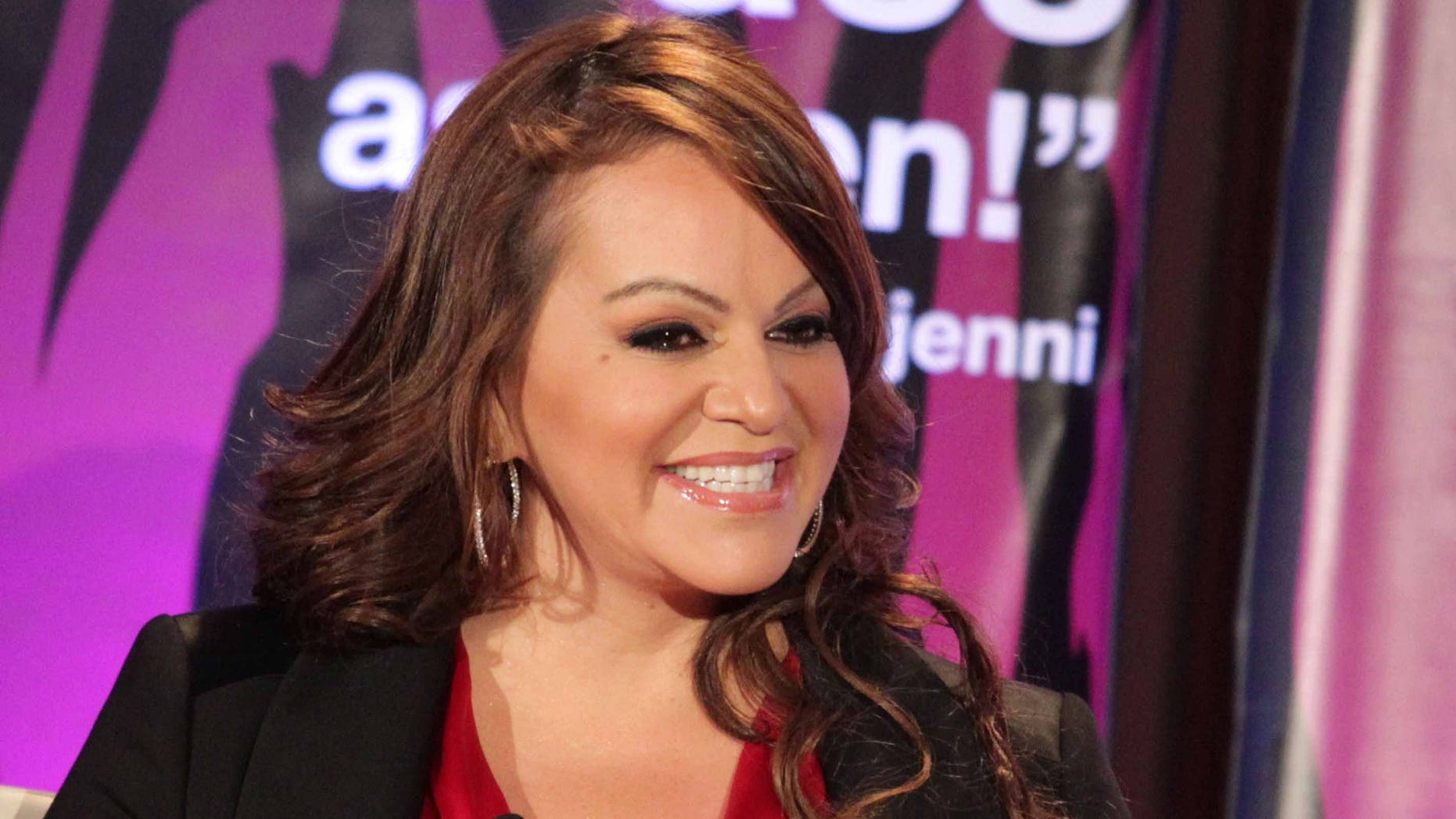 """PASADENA, CA - JANUARY 13:  Singer Jenni Rivera speaks during the """"I Love Jenni"""" lunch session during the NBC Universal portion of the 2011 Winter TCA press tour held at the Langham Hotel on January 13, 2011 in Pasadena, California.  (Photo by Frederick M. Brown/Getty Images)"""