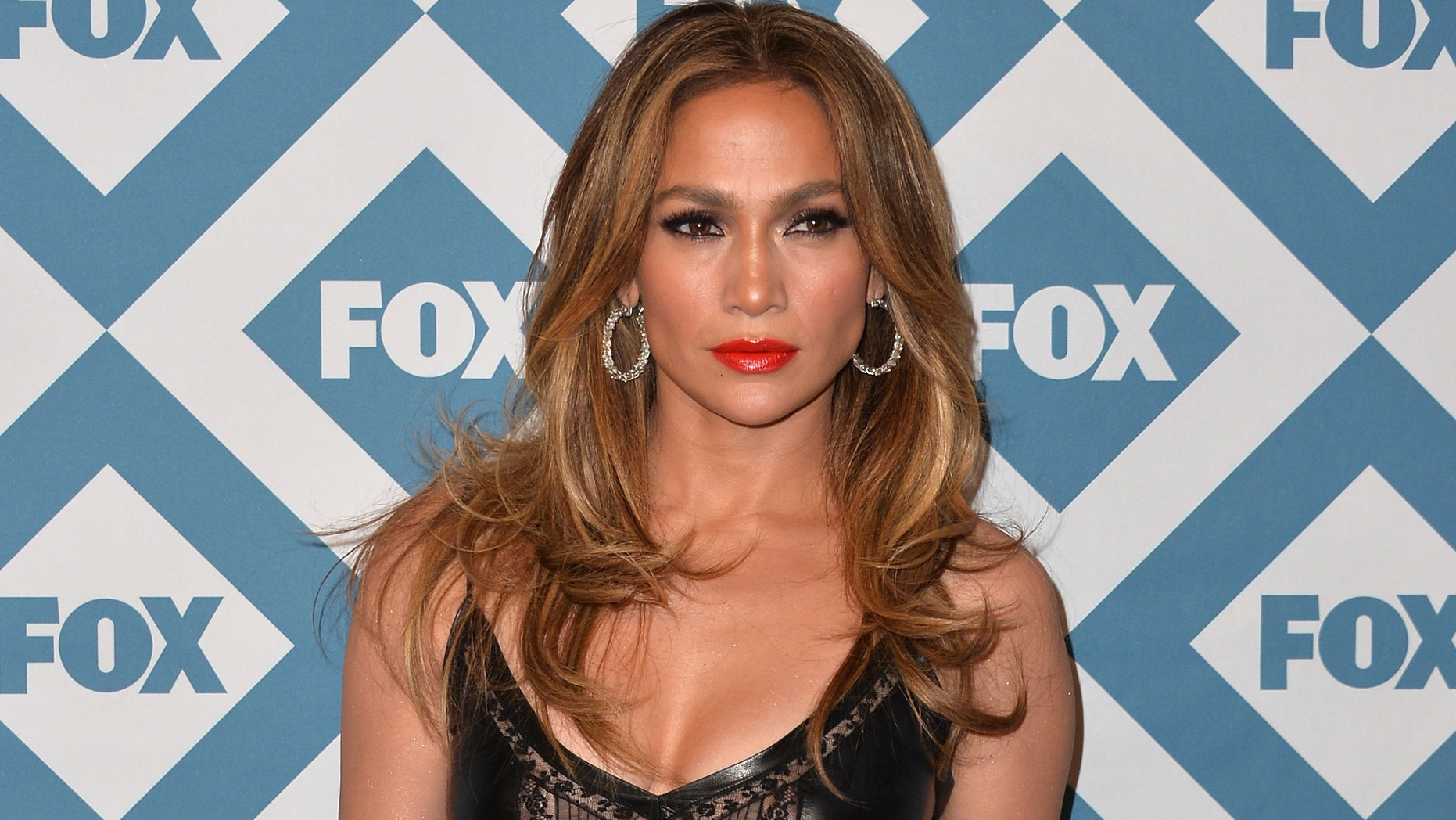 Jennifer Lopez at the Langham Hotel on January 13, 2014 in Pasadena, California.