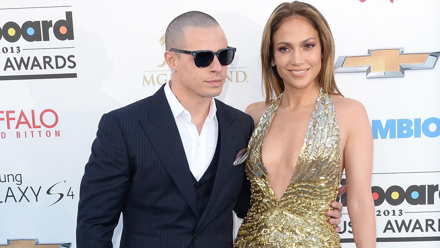 Jennifer Lopez and Casper Smart on May 19, 2013 in Las Vegas, Nevada.