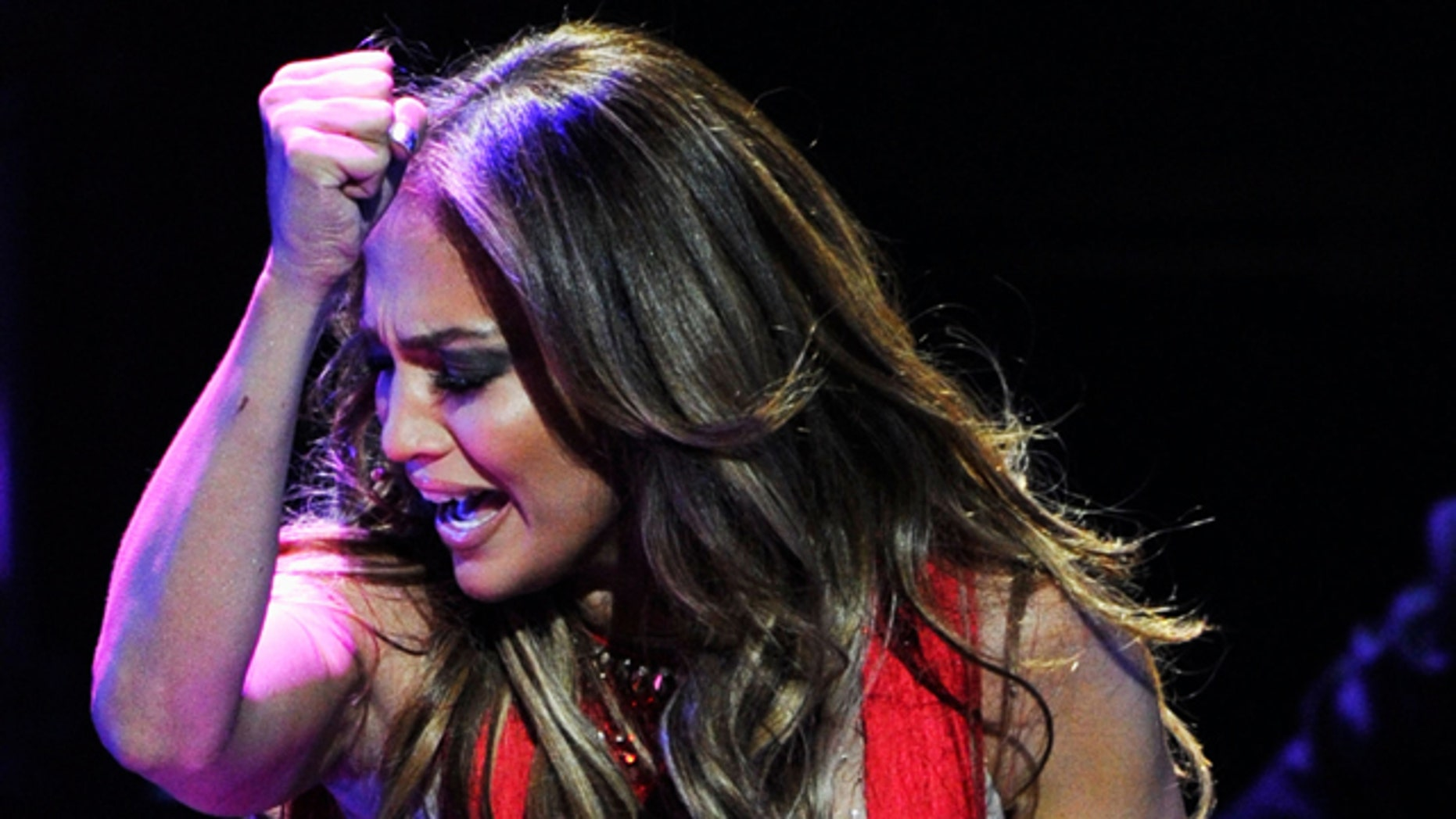 Sept. 24, 2011: Singer Jennifer Lopez performs onstage at the iHeartRadio Music Festival held at the MGM Grand Garden Arena in Las Vegas, Nev.