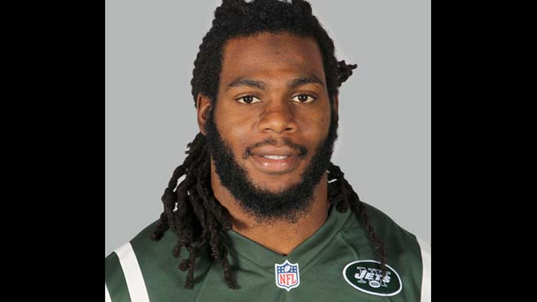 """June 16, 2014: New York Jets linebacker Jermaine Cunningham in Forham Park, N.J. When Cunningham appears in a New Jersey courtroom, he'll be the most recognizable defendant yet facing charges over """"revenge porn."""""""
