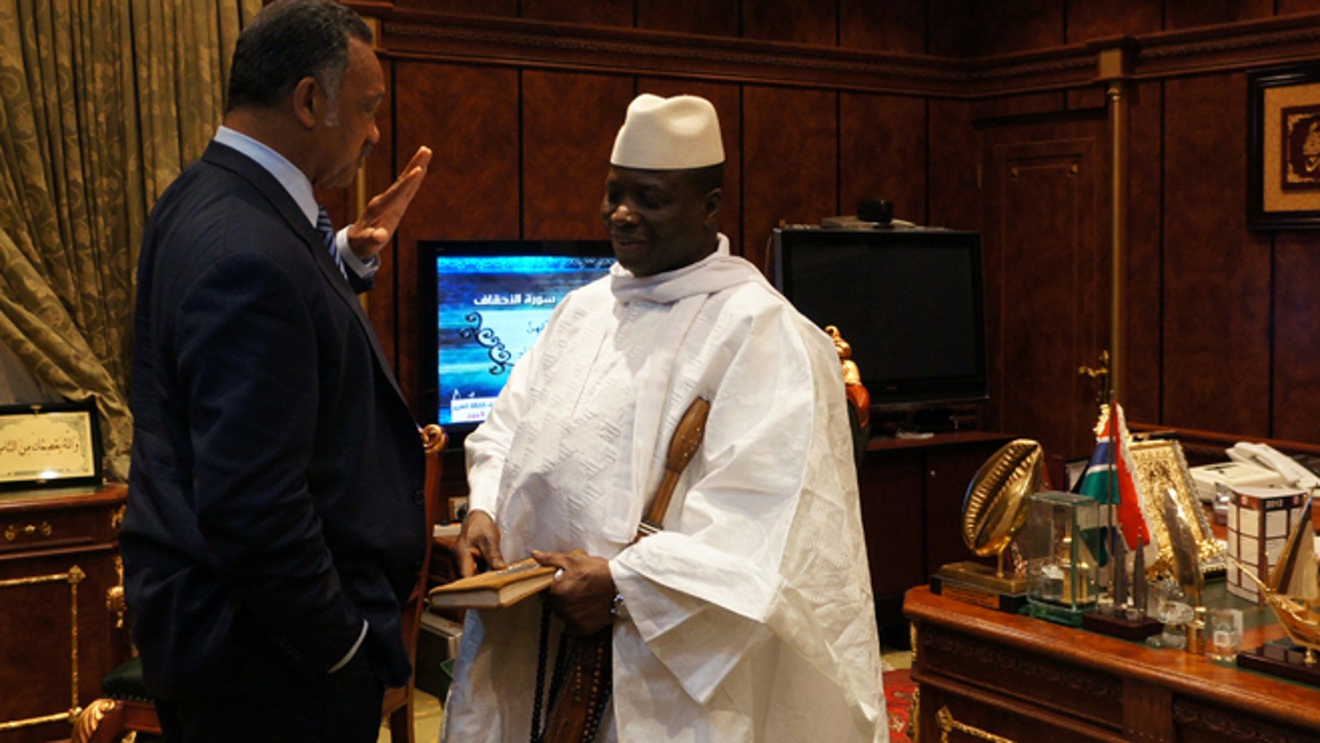 Sept. 17, 2012: The Rev. Jesse Jackson meets with Gambian President Yayha Jammeh