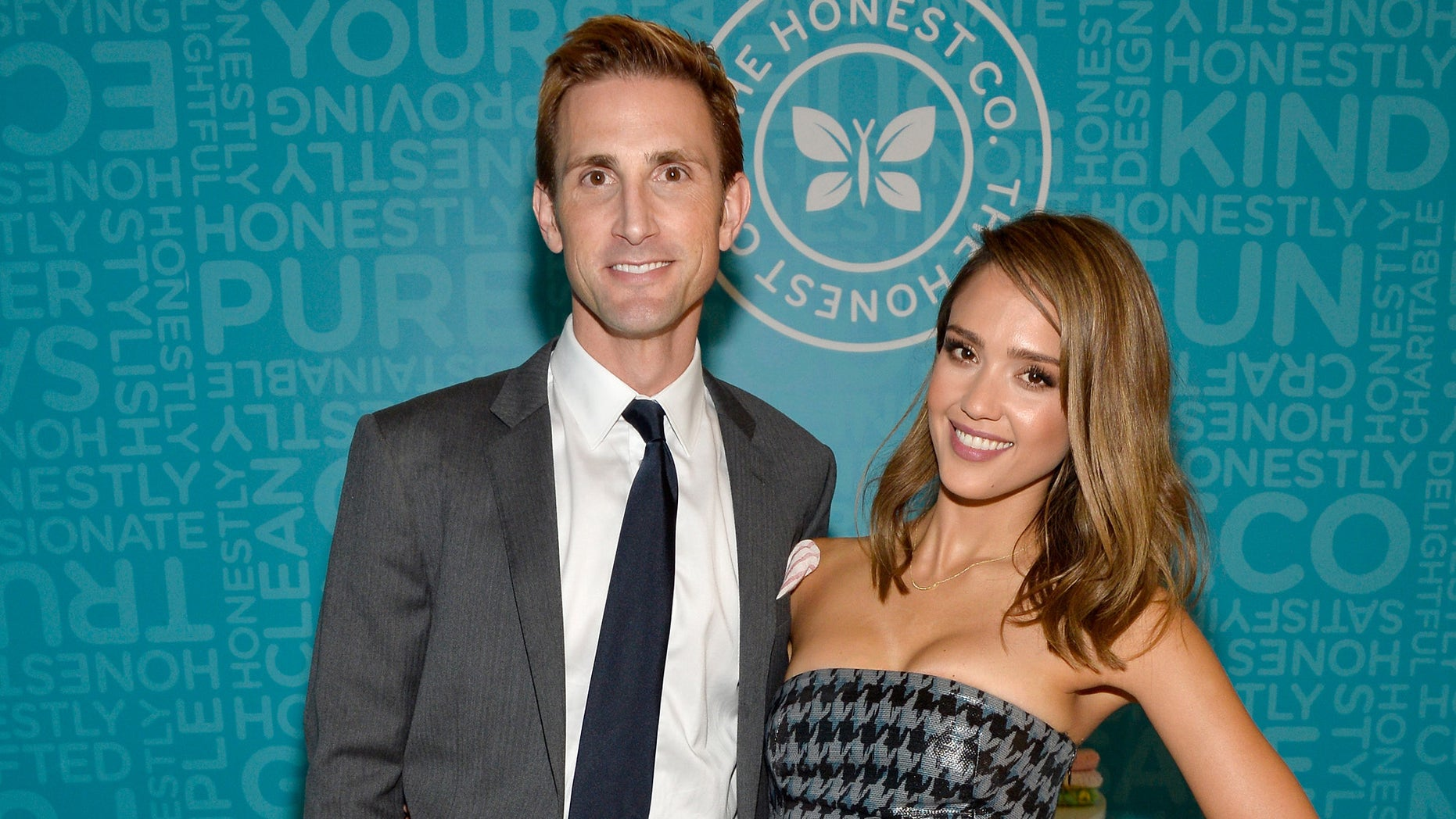 The Honest Company's Christopher Gavigan and Jessica Alba in a 2013 file photo.