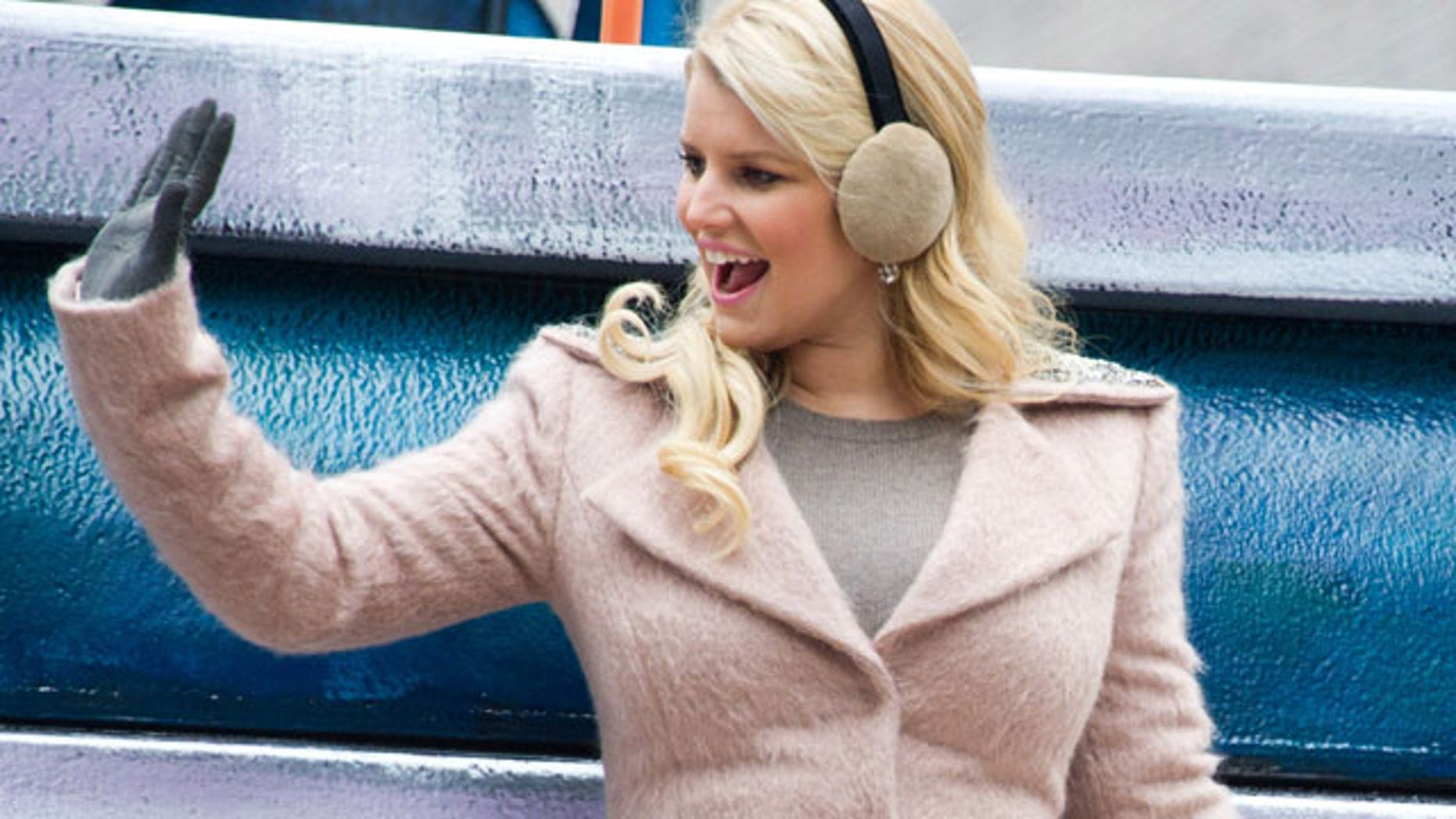 Nov. 25:Jessica Simpson rides a float down 7th Avenue in the Macy's Thanksgiving Day Parade in New York.