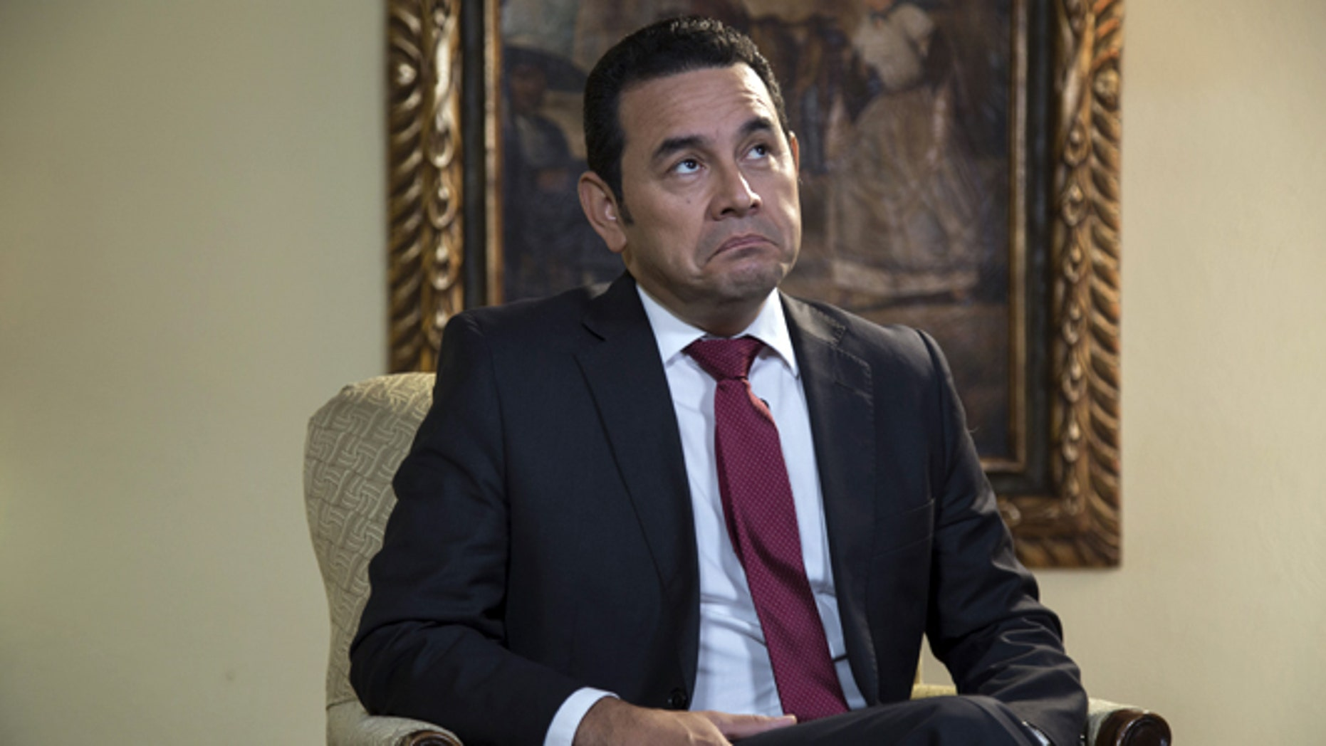 Guatemala's President-elect Jimmy Morales, a former comedian, in a Nov. 3, 2015 photo.