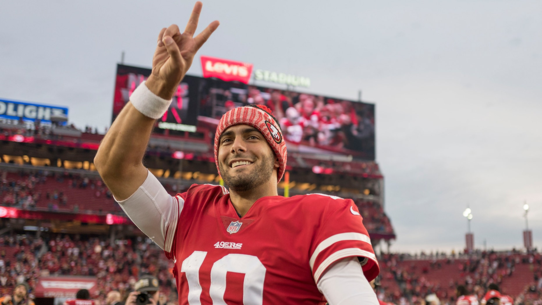 San Francisco 49ers quarterback Jimmy Garoppolo, who tore his ACL while making a cut late in a loss at Kansas City Sunday, will need season-ending surgery on his injured left knee.