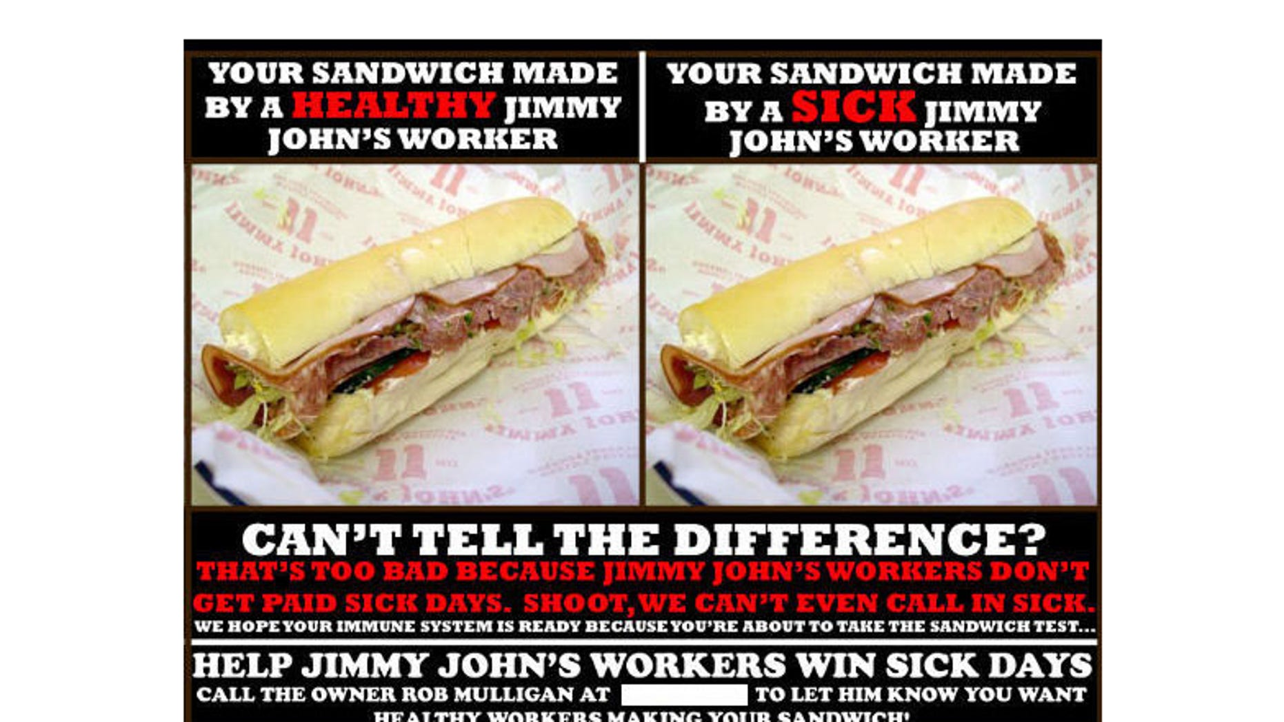 Even though workers at Jimmy John's franchises in Minneapolis hung posters around town warning that sandwiches could be made by flu-stricken workers, their employer didn't have the right to fire them, according to the National Labor Relations Board. That was just one of several odd decisions the board made last year, say critics.