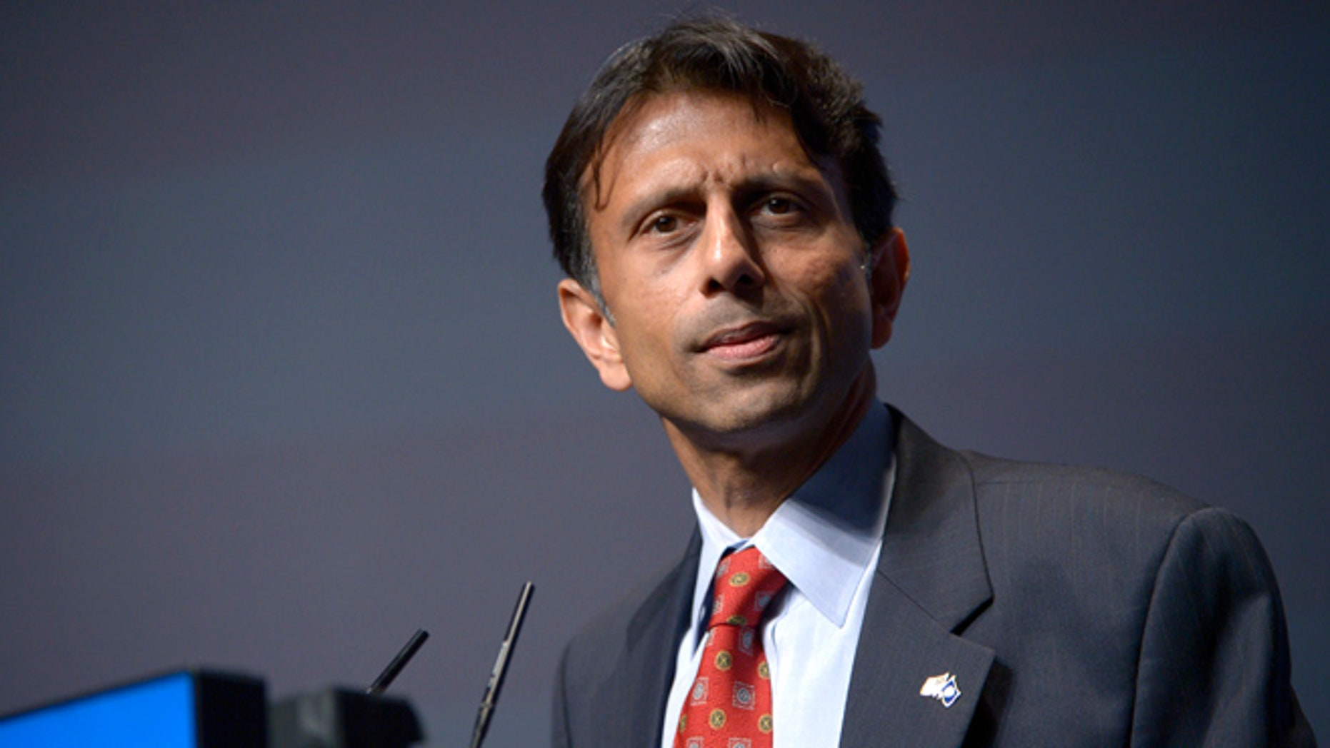 FILE: Aug. 30, 2013: Louisiana Gov. Bobby Jindal at the Americans for Prosperity Foundation's Defending the American Dream Summit in Orlando, Fla.