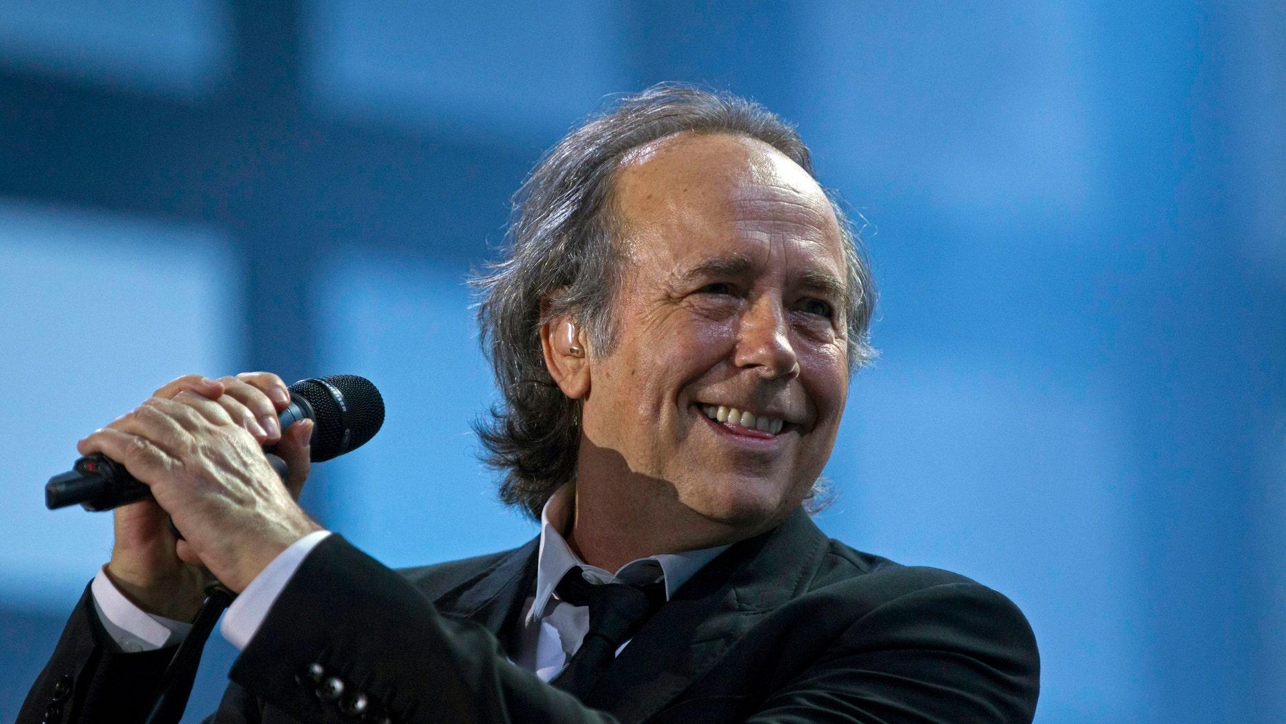 Joan Manuel Serrat in a March 2012 file photo.