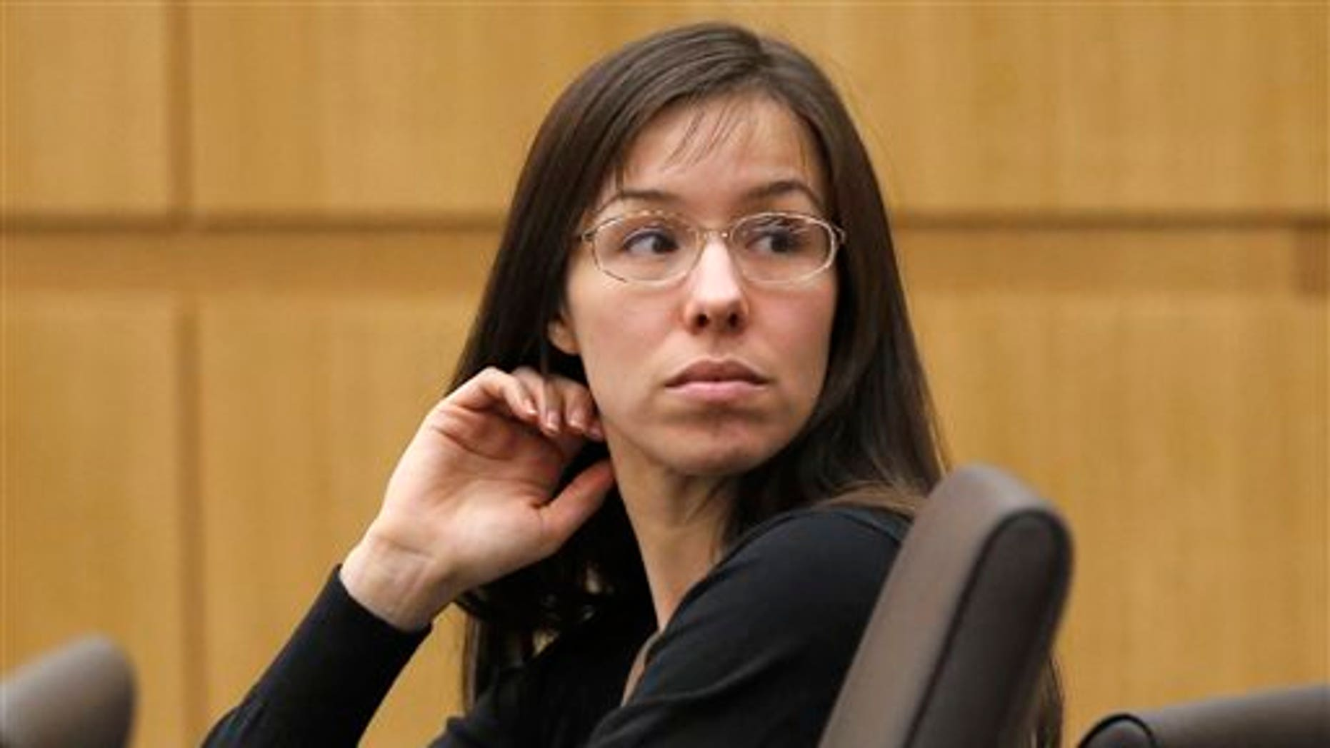 Jodi Arias appearing for her trial in Maricopa County Superior court in Phoenix, on Jan. 9, 2013.