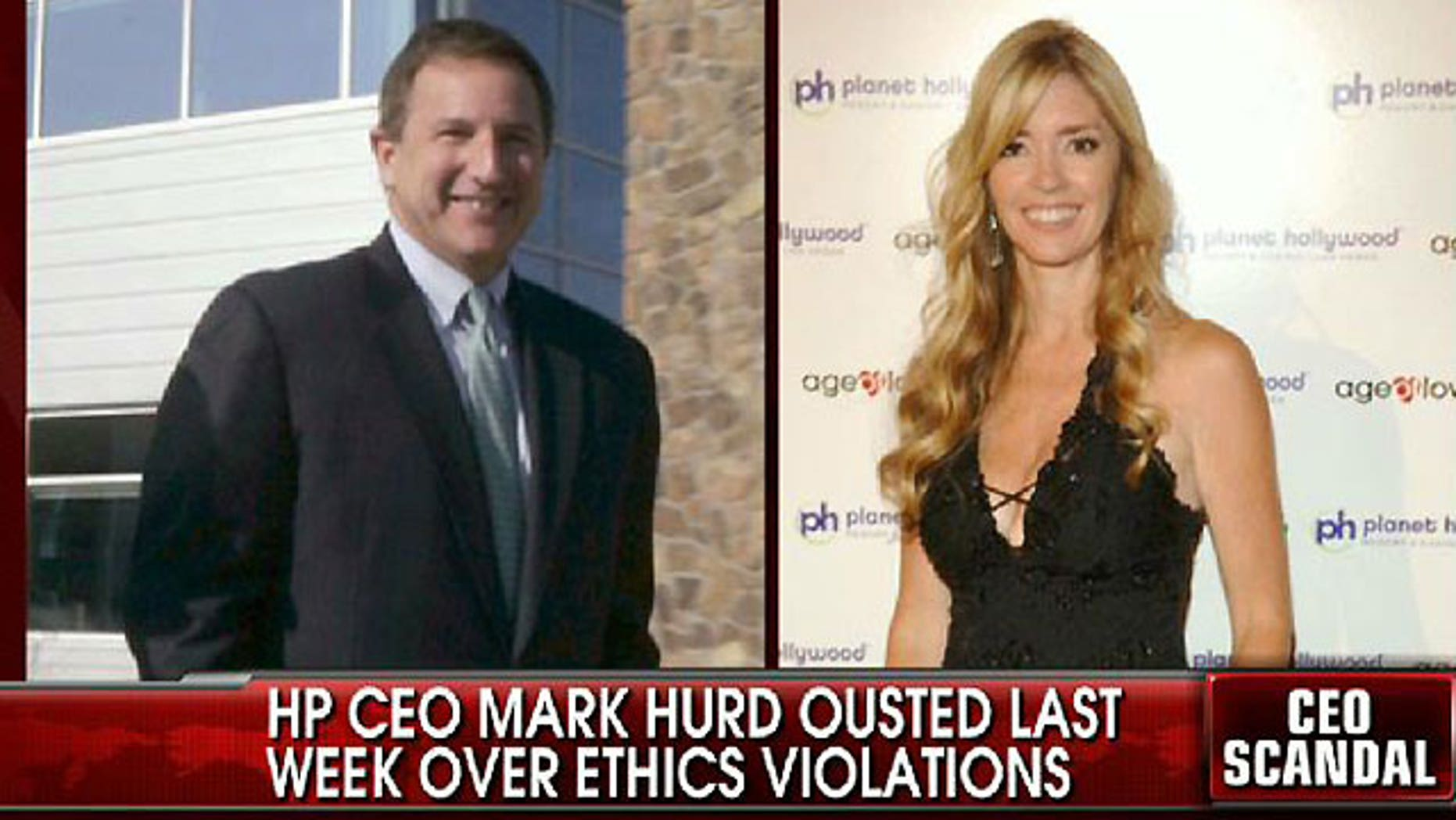 Former HP CEo Mark Hurd and Jodie Fisher.