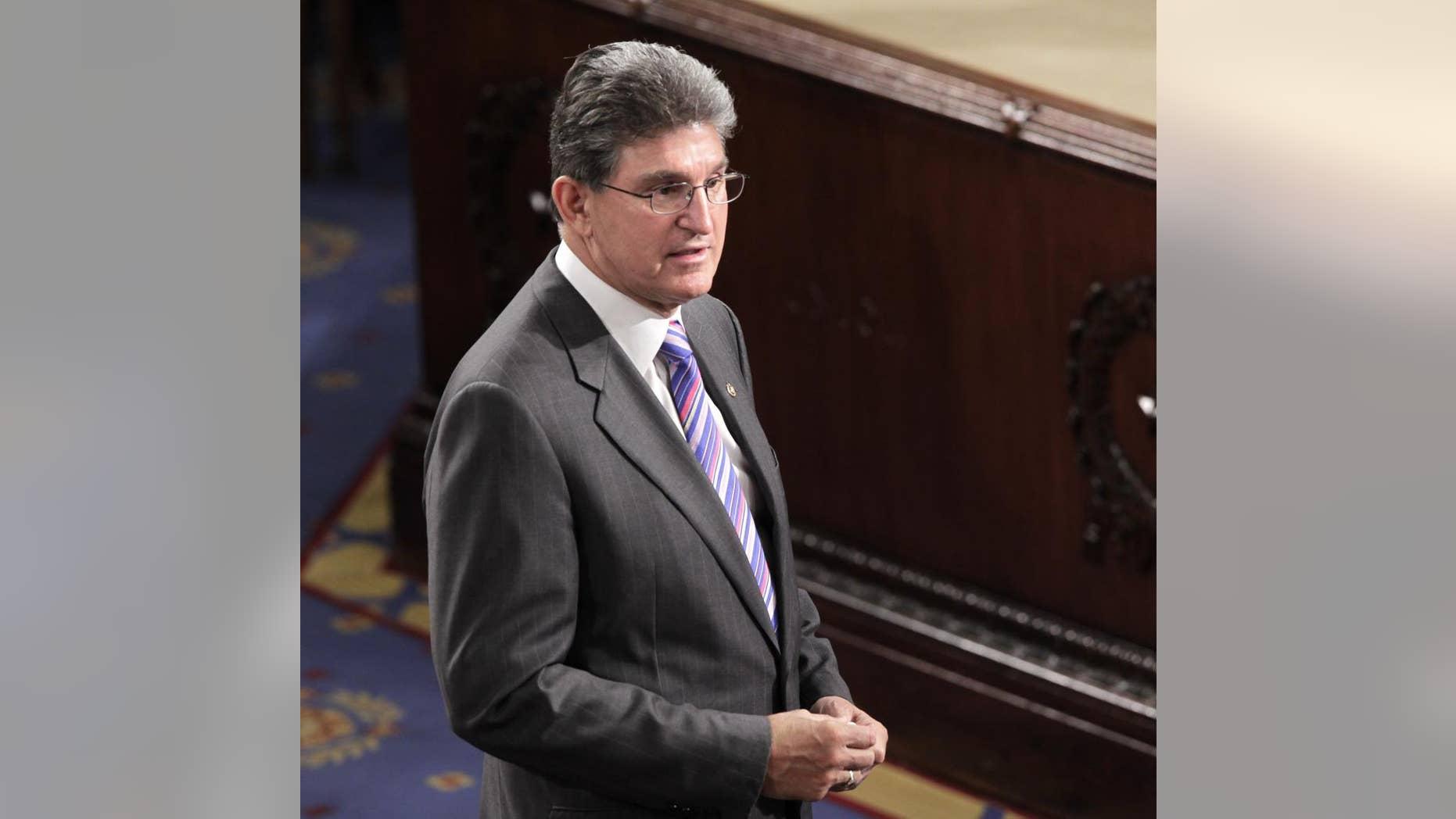 Sen. Joe Manchin, D-W.Va., in the U.S. Senate
